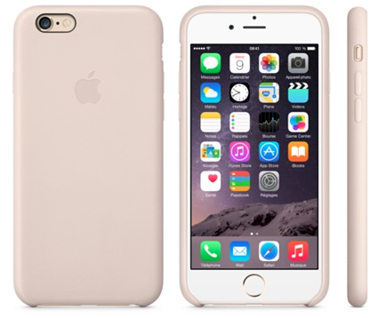 Coque en cuir iPhone 6 Apple Rose Poudré