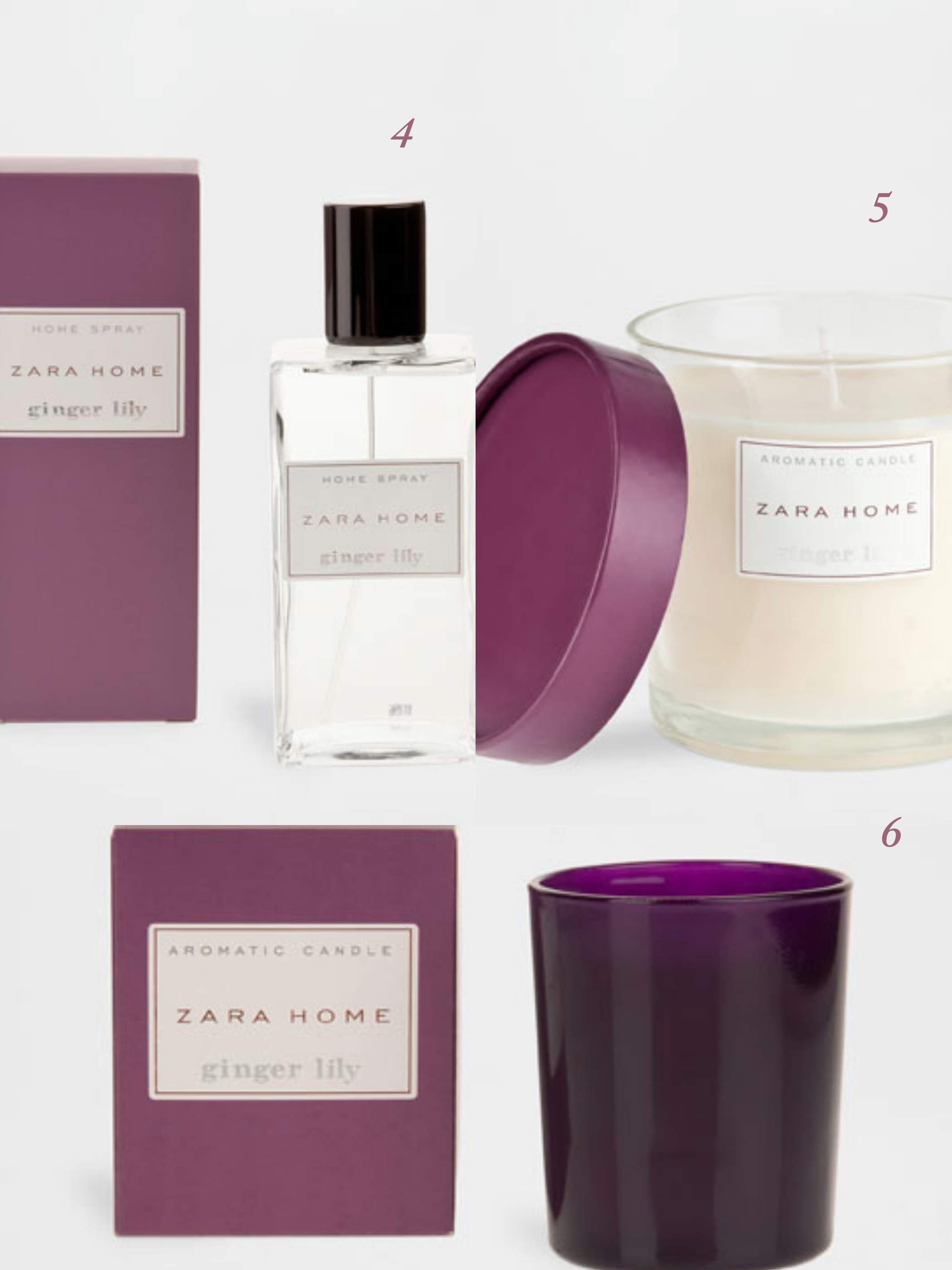 Bougies & Spray Ginger Lily - Zara Home