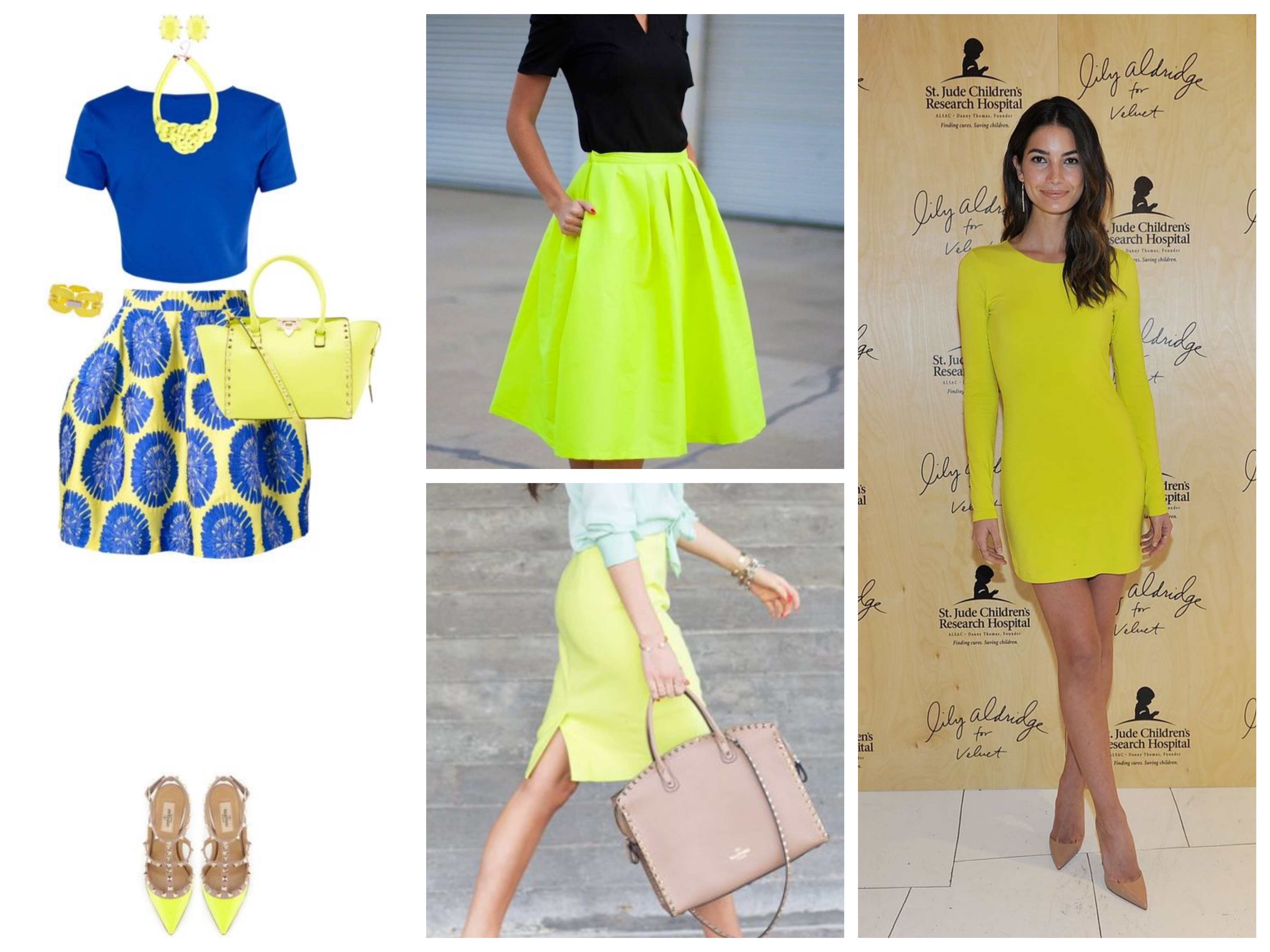 Bright yellow skirts & dress