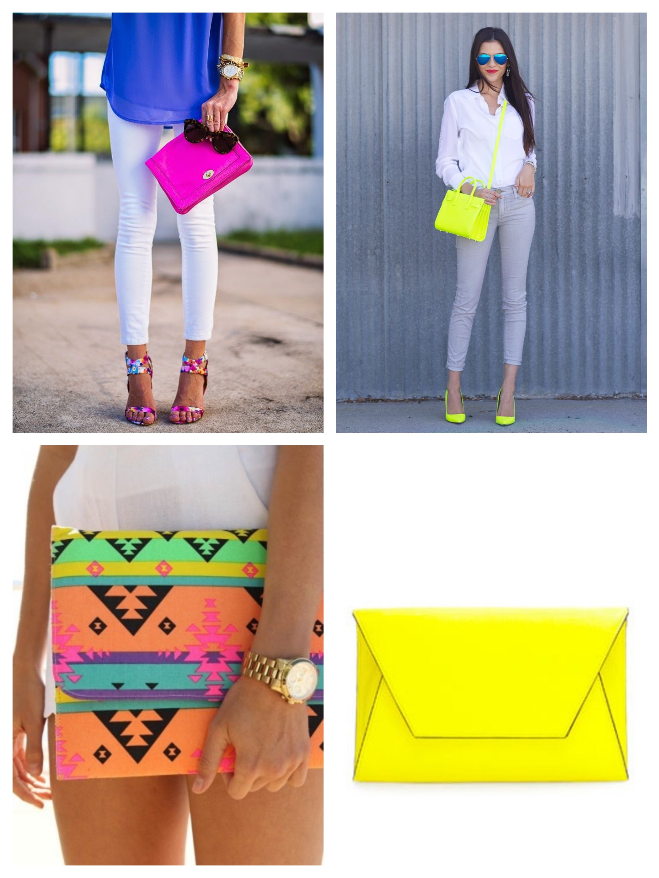 Neon bags & clutches