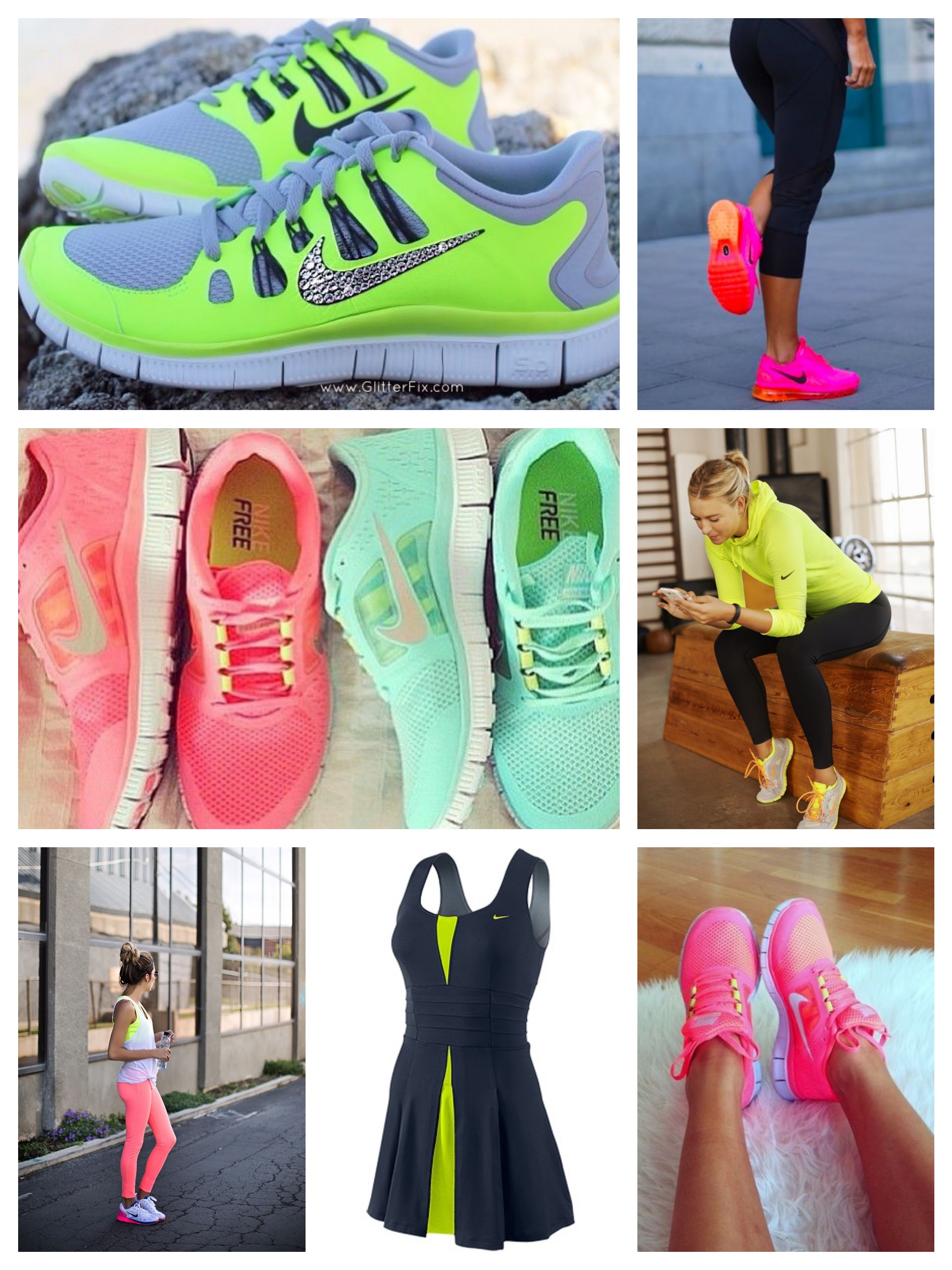 Neon trend for working out outfits