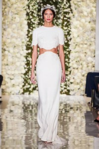 Reem Acra Two Pieces Wedding Dress