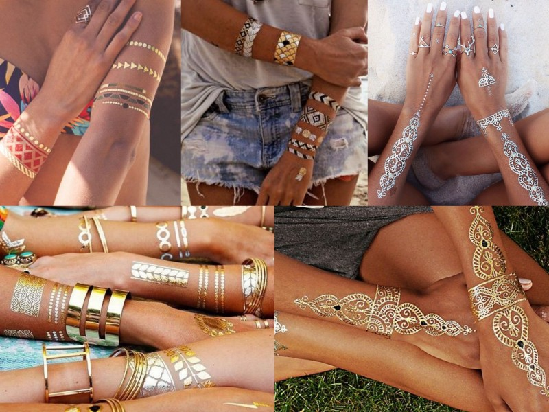 Summer trend - Metallic tattoos