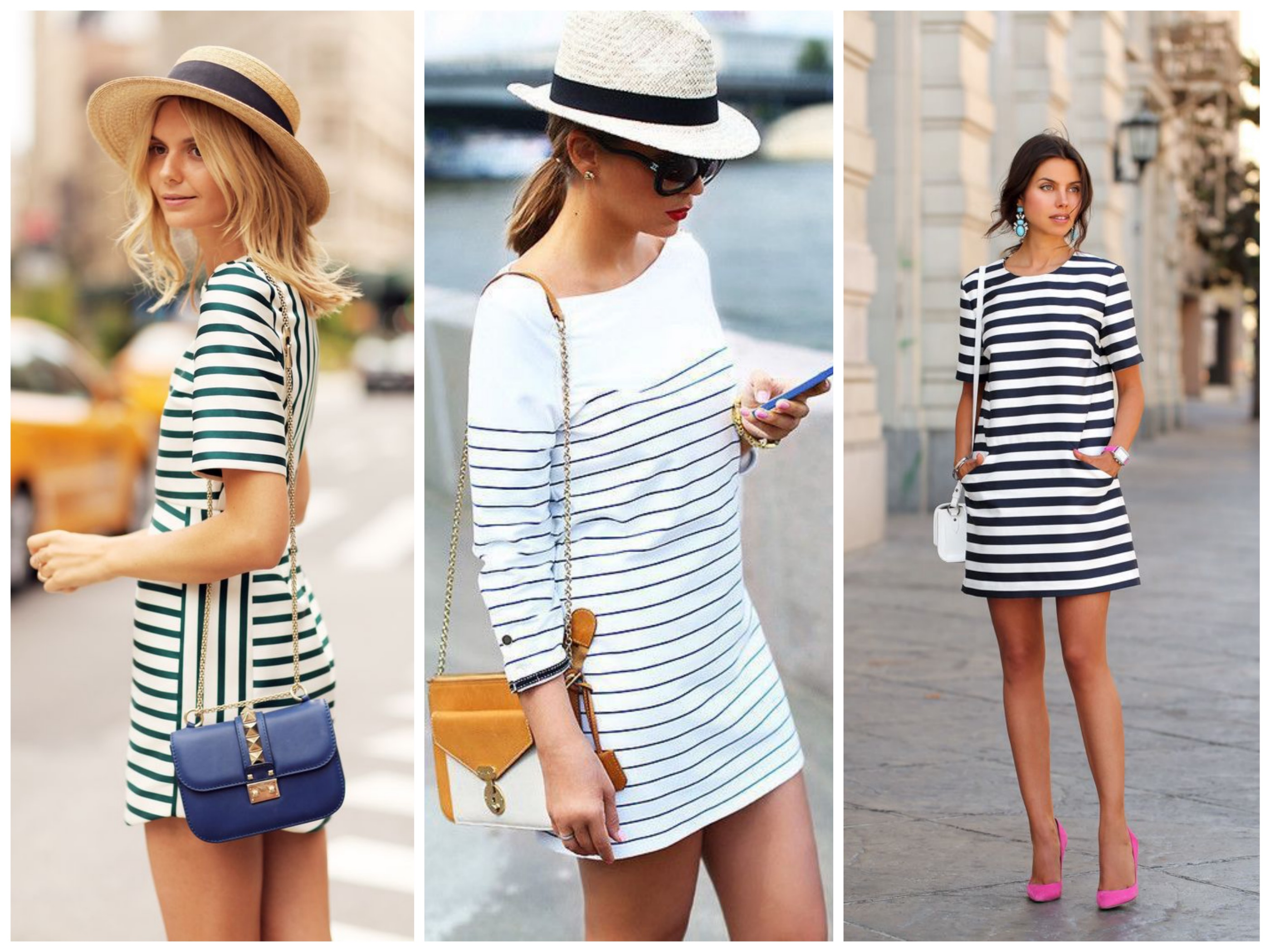 Add some colors to your striped dress