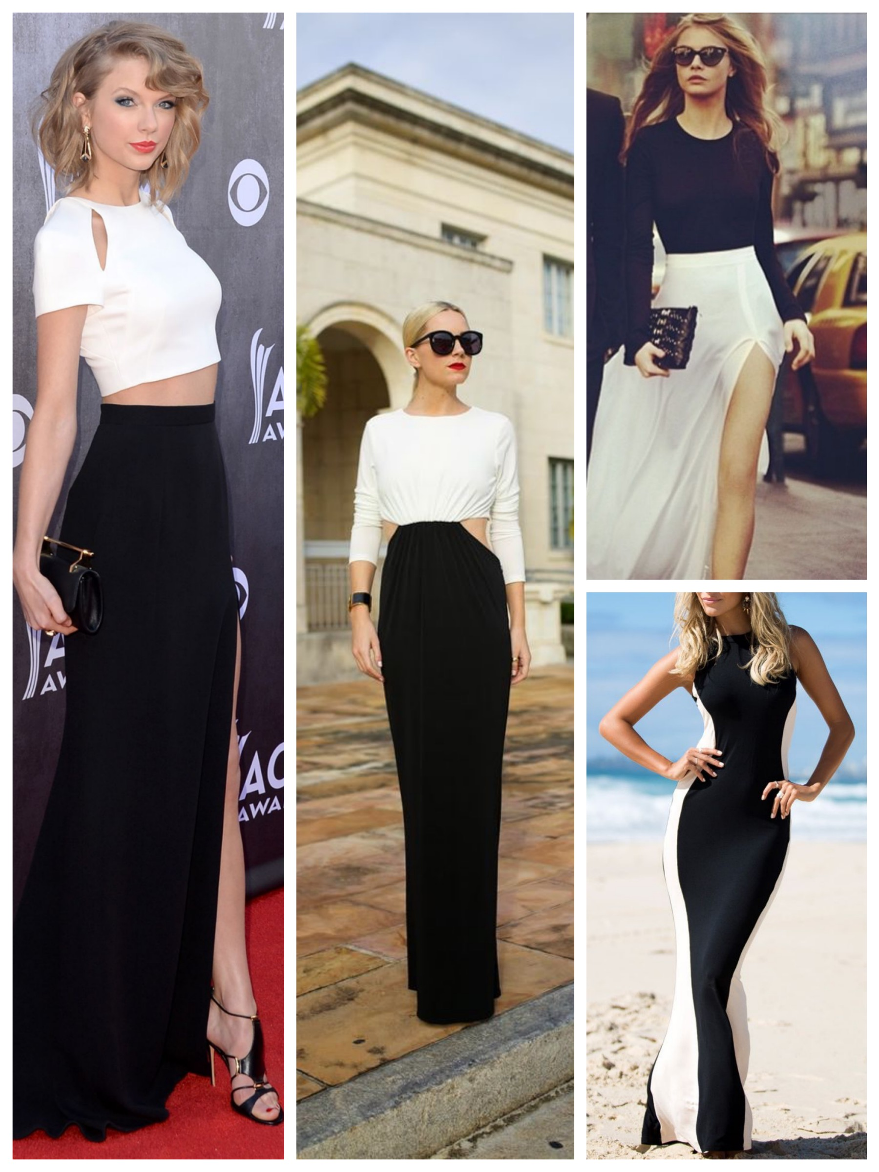 Black & White Maxi Dresses