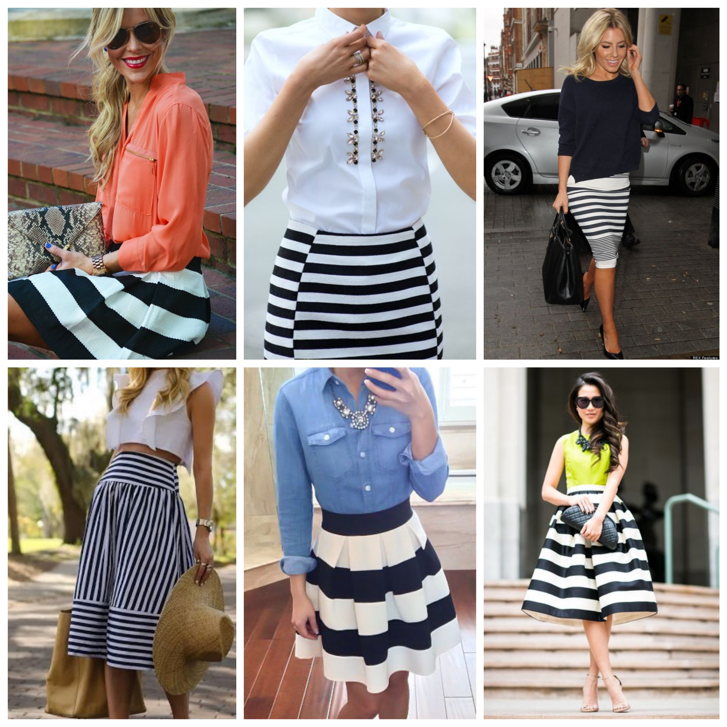 Dare the striped skirt