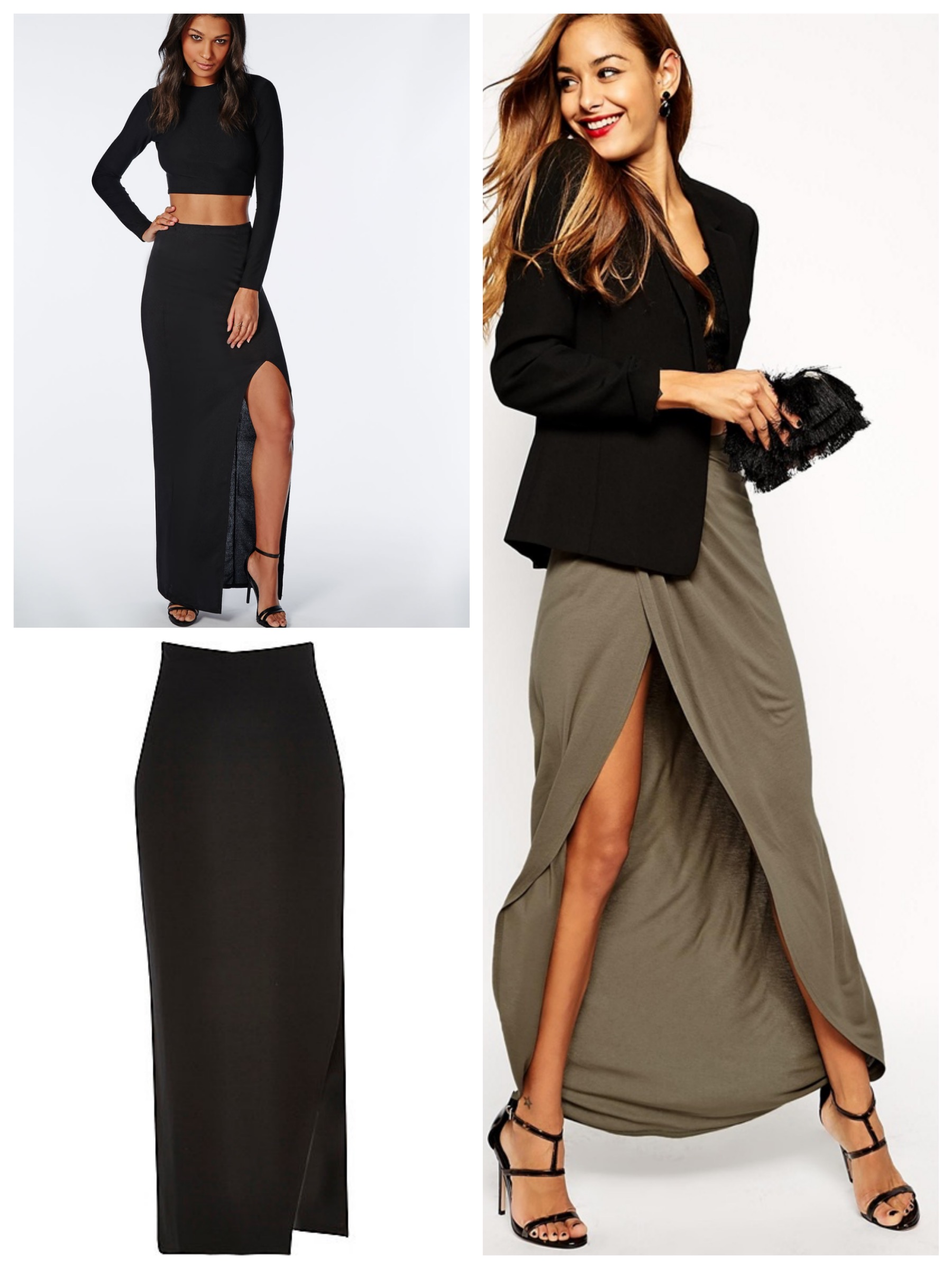 Dark Shades Maxi Skirts