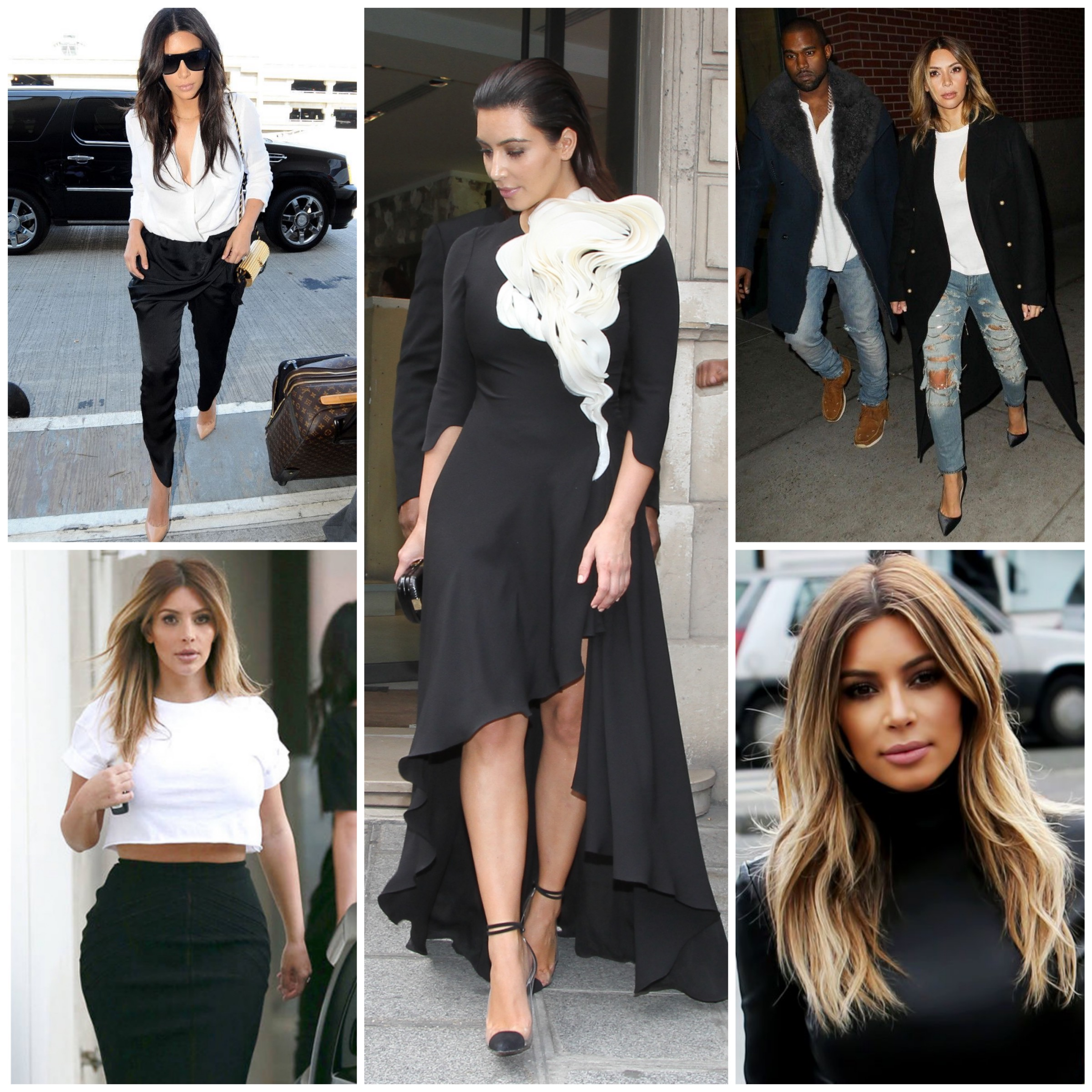 Kim's style after Kanye - Classy in Black & White