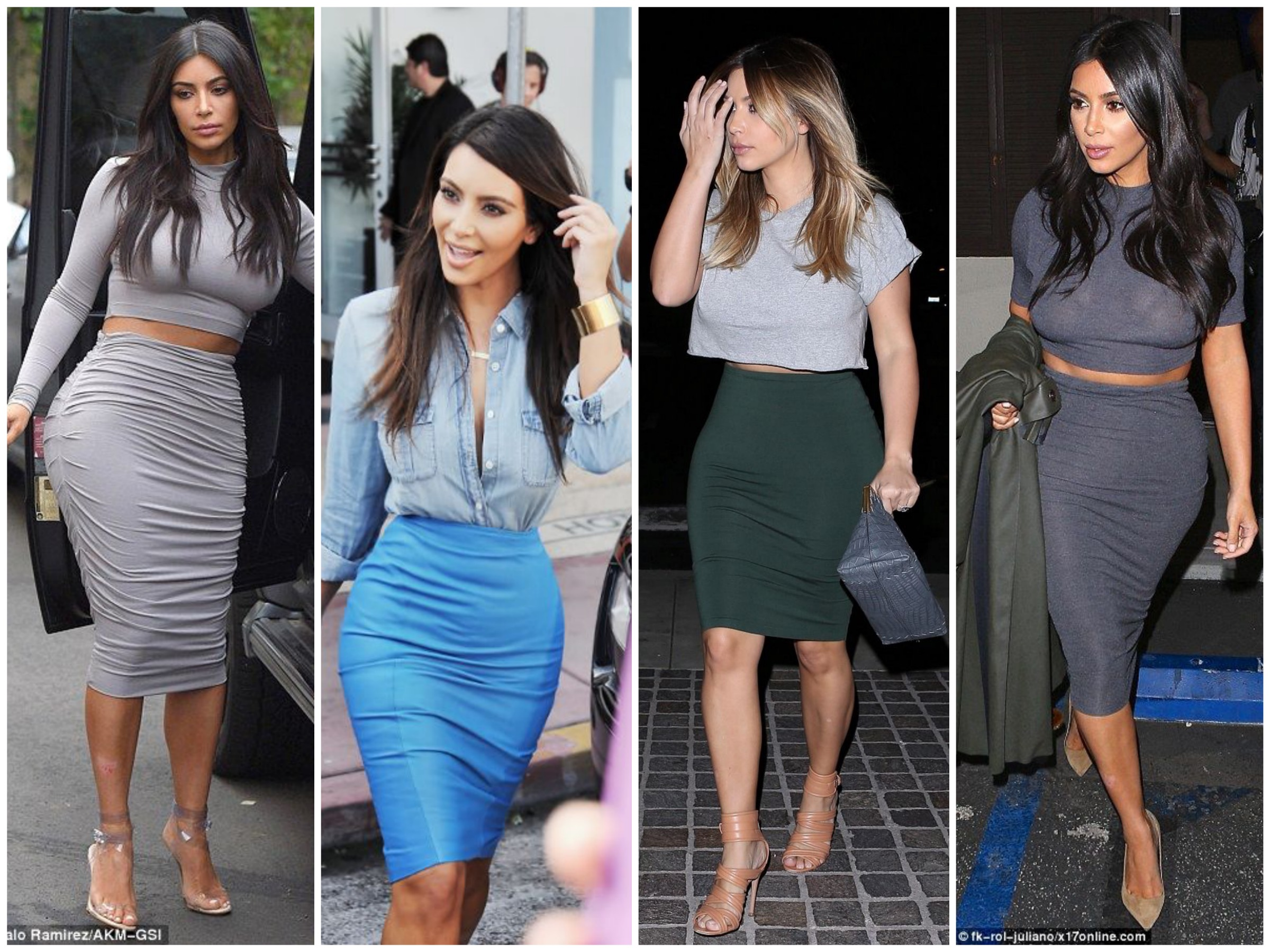 Kim's style after Kanye - Pencil skirt lover