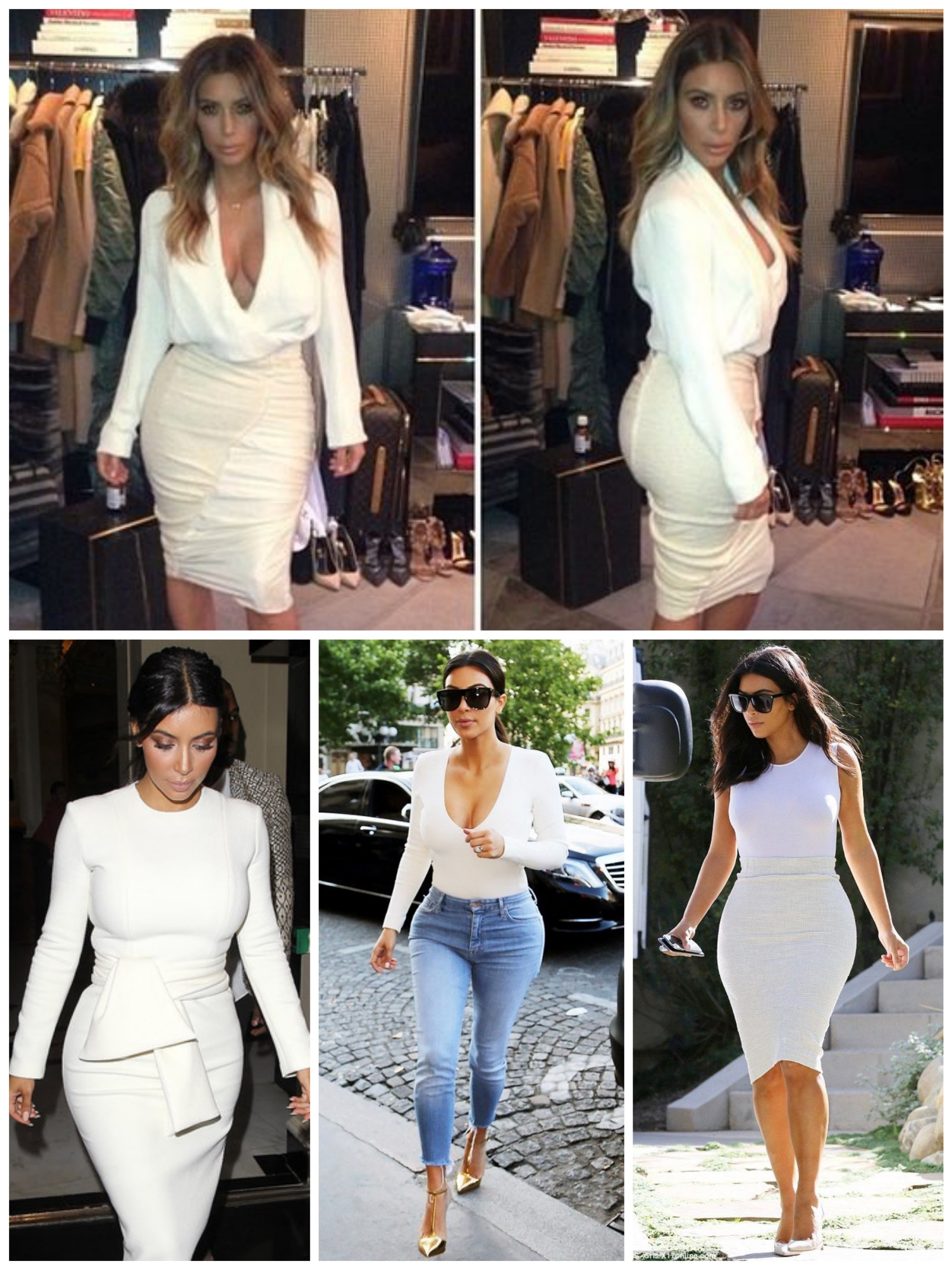 Kim's style after Kanye - Simple but still sexy in white