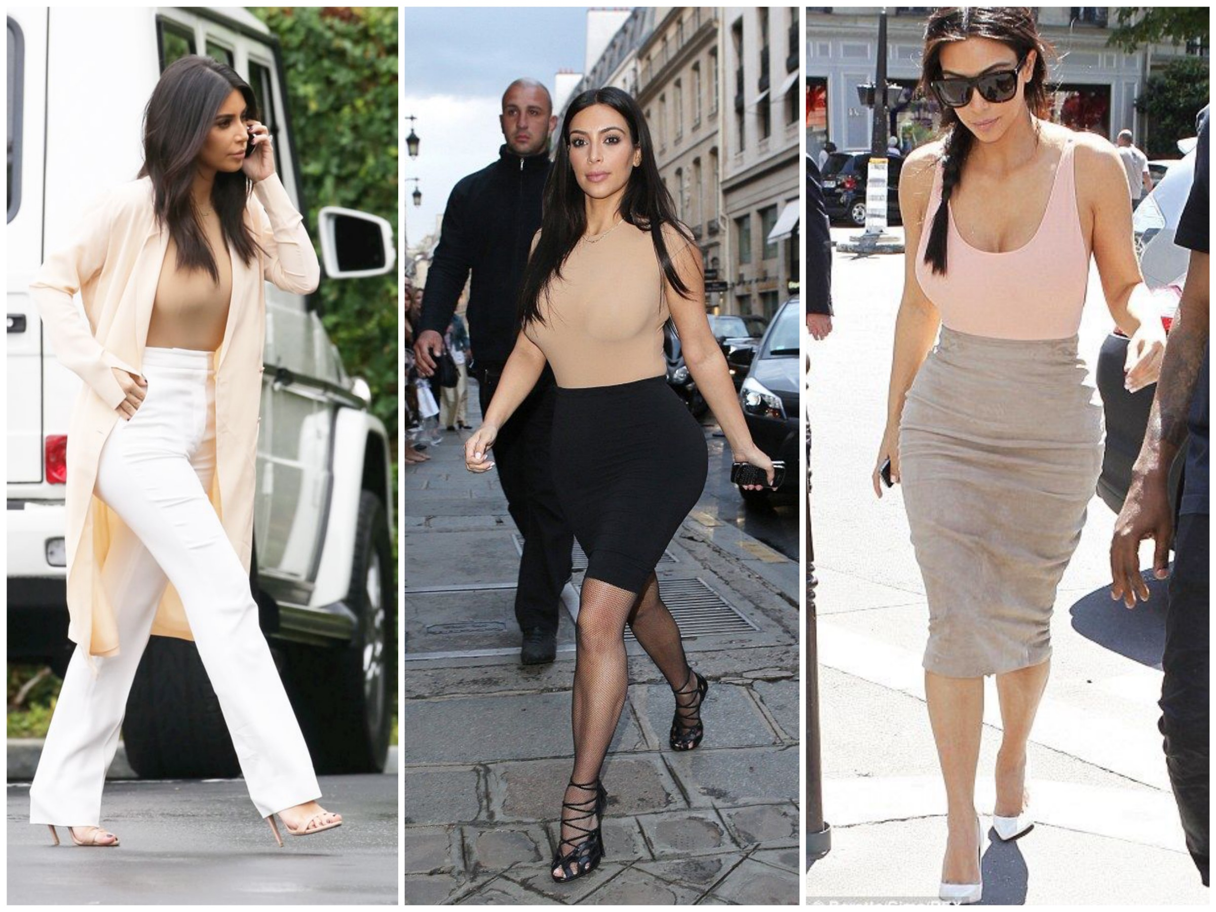 Kim's style after Kanye - Wearing nude