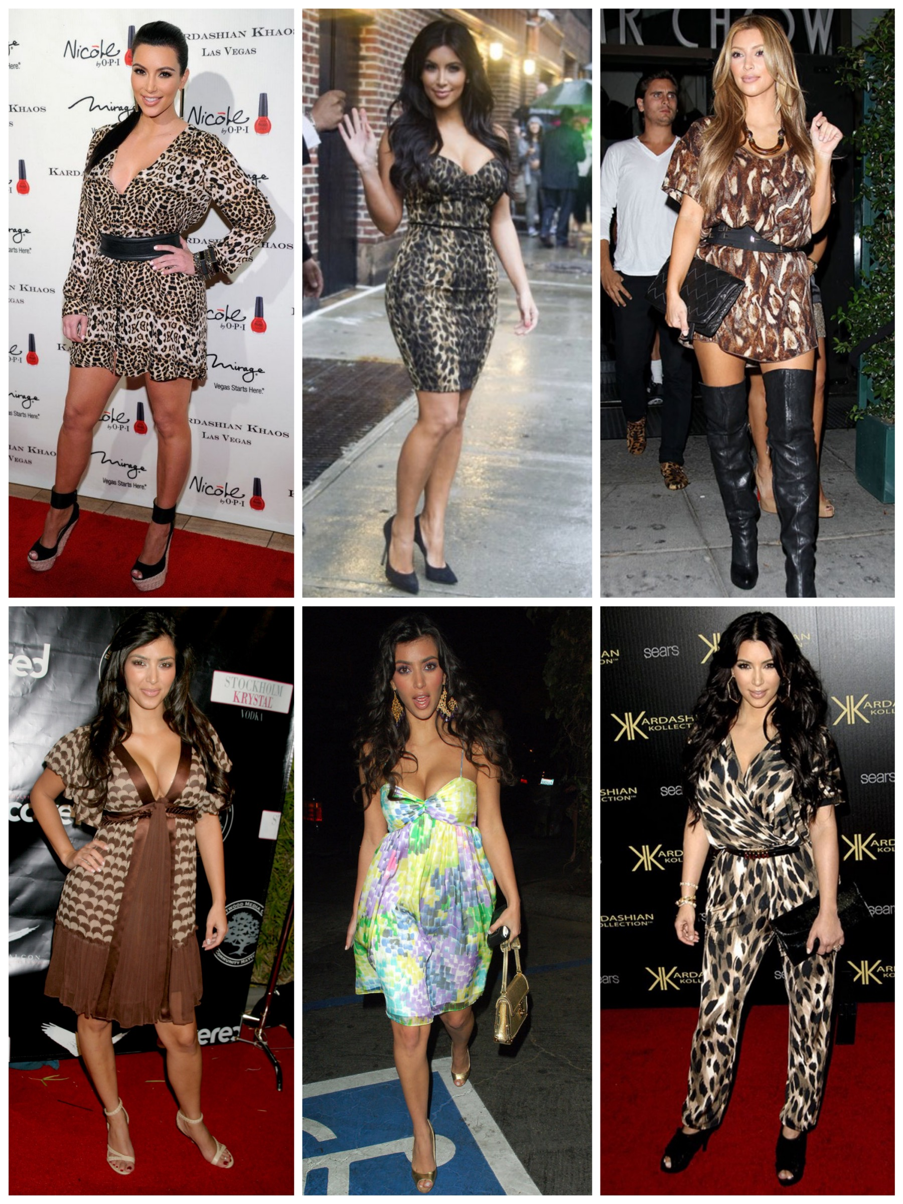 Kim's style before Kanye - A lot of prints