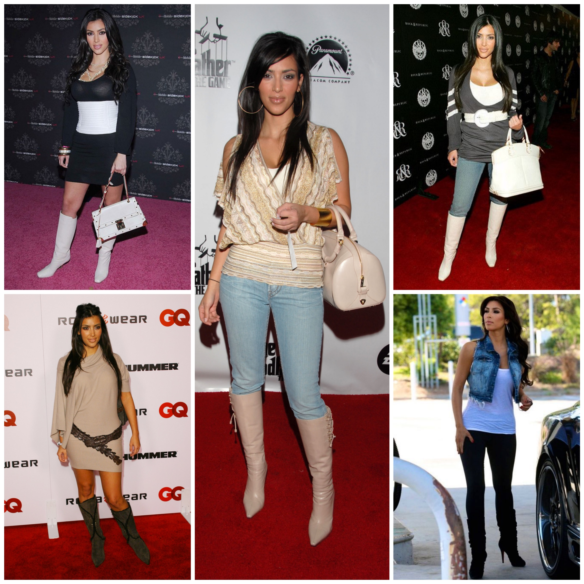 Kim's style before Kanye - Knee high boots