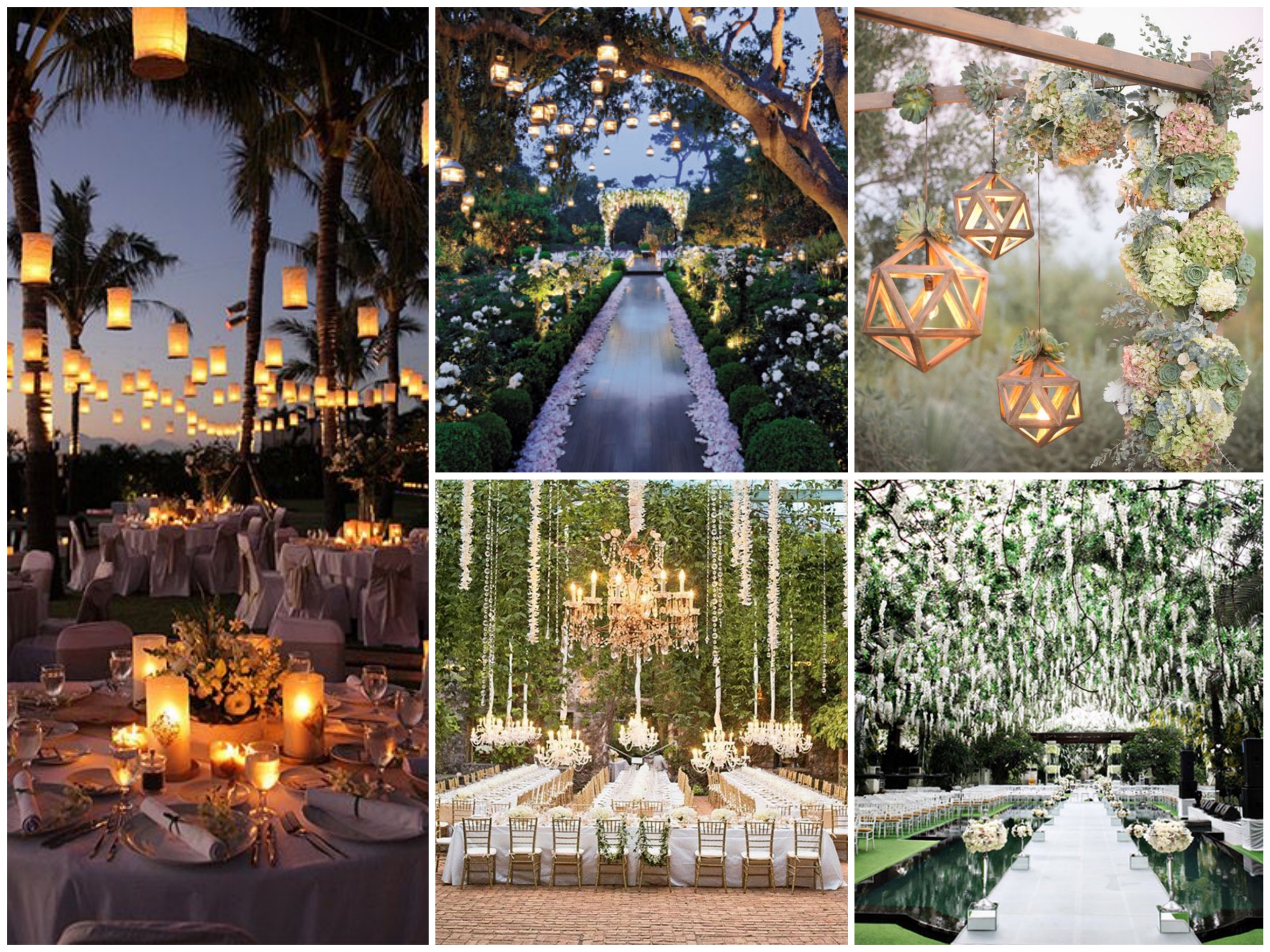 Lights for a romantic wedding