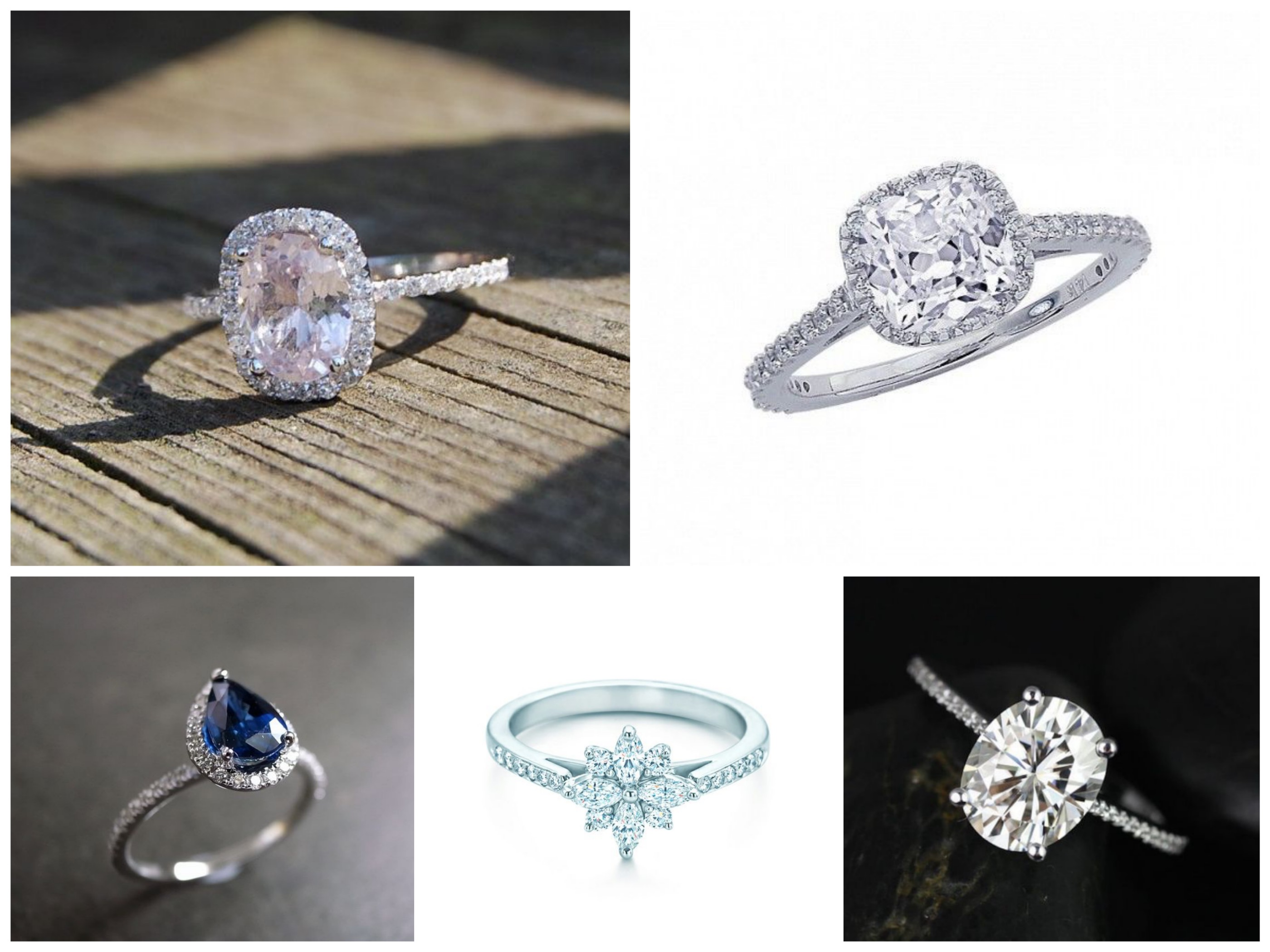 Oval & Pear Shape Engagement Rings