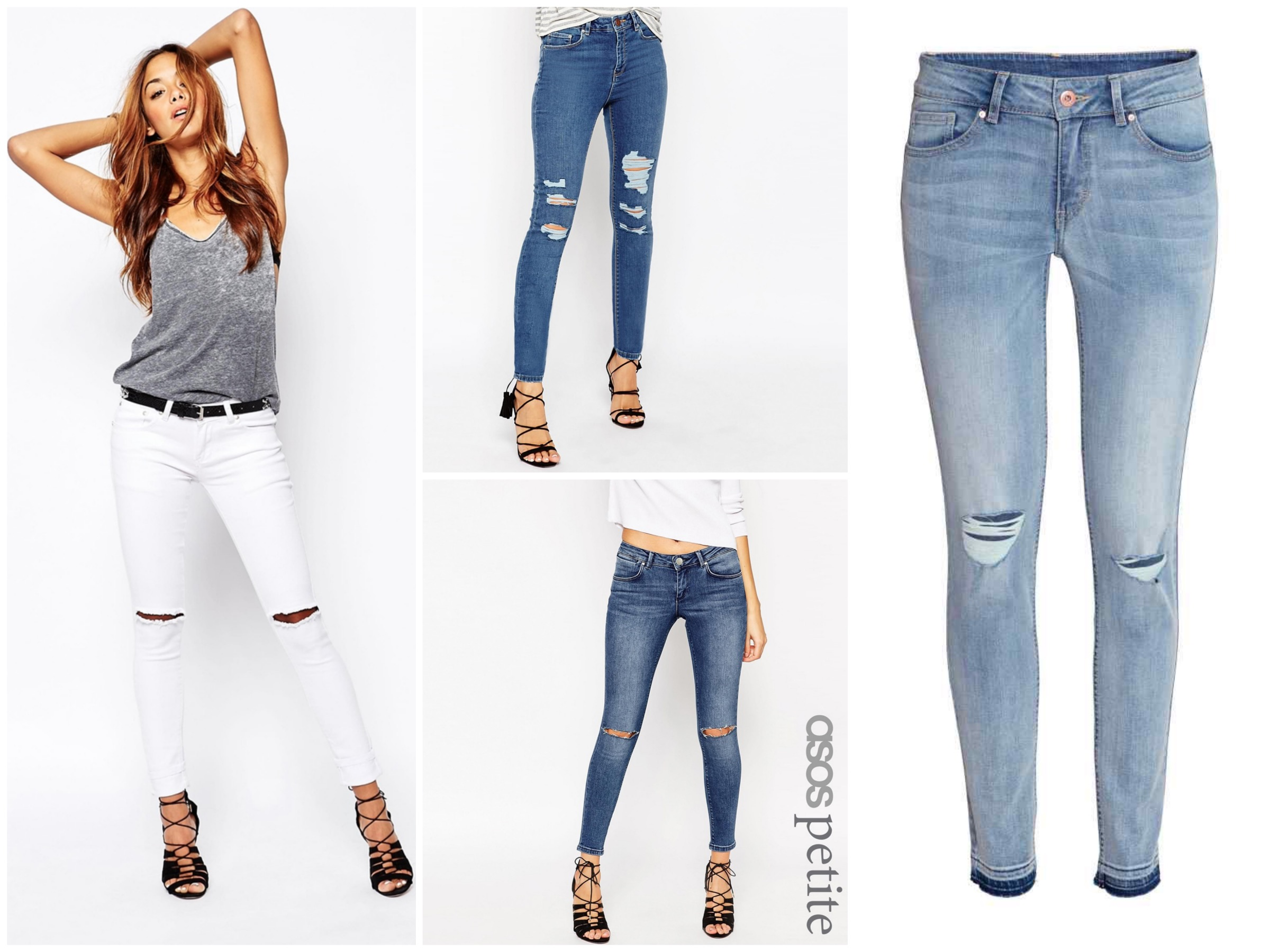 Ripped light blue jeans - Asos & H&M