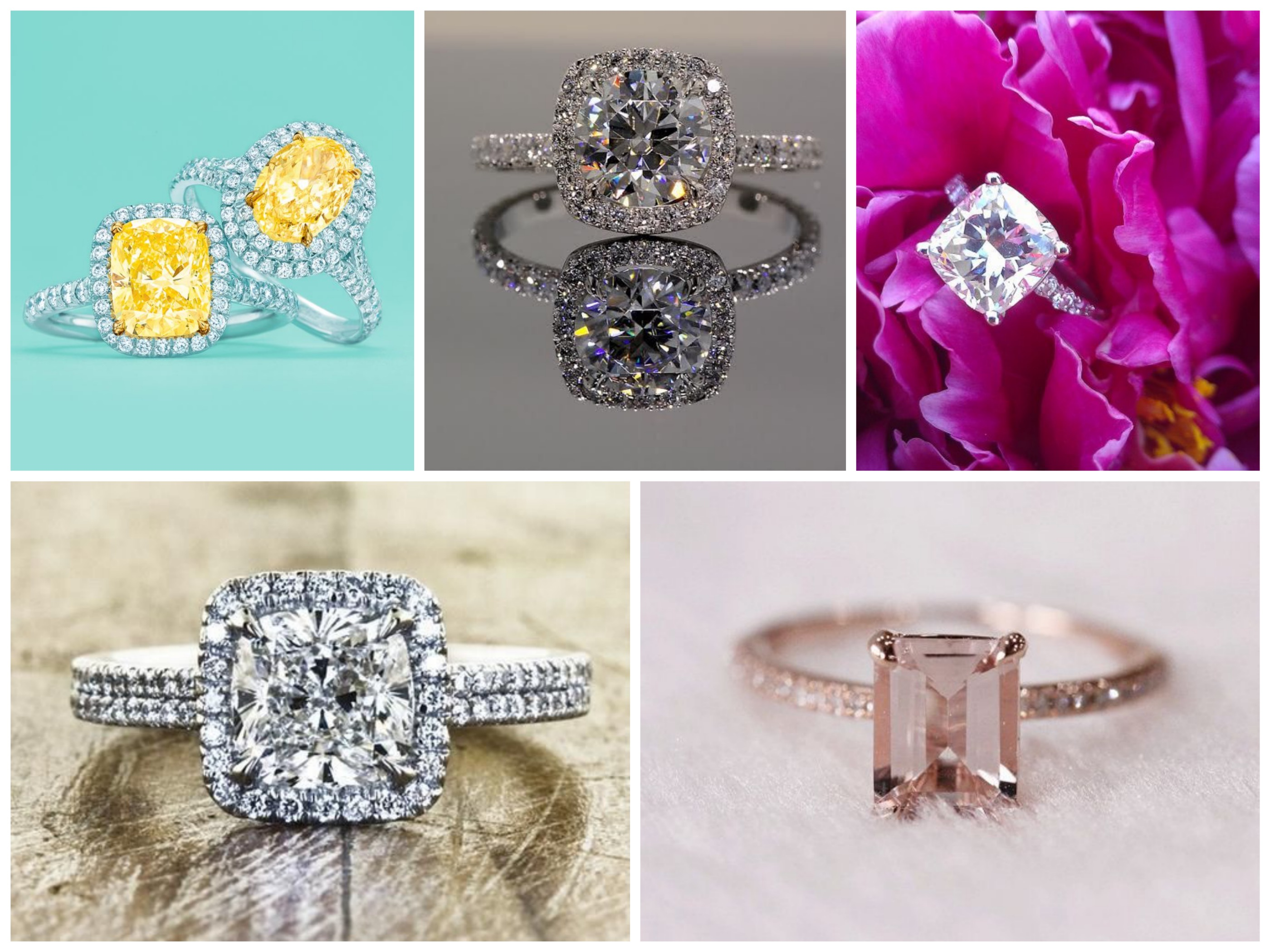 Square Shape Engagement Rings