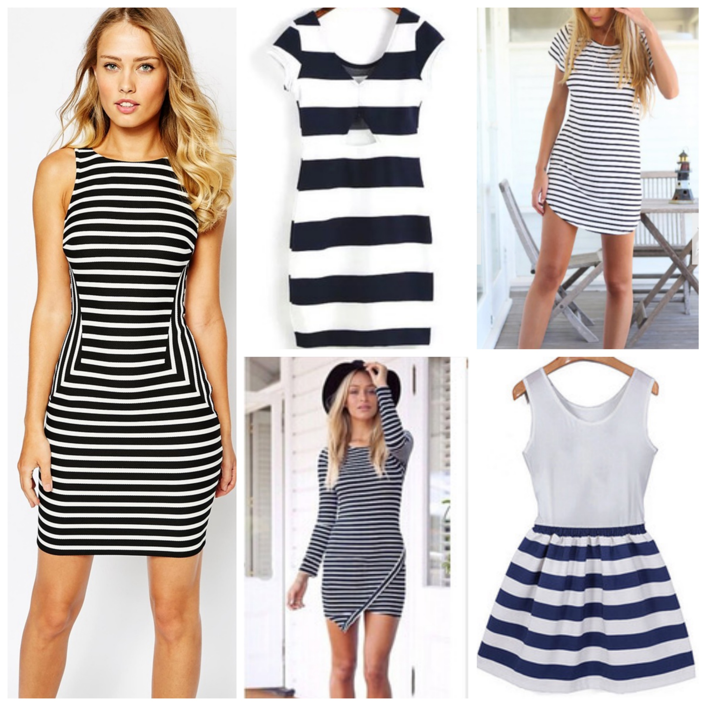 Stripped dresses