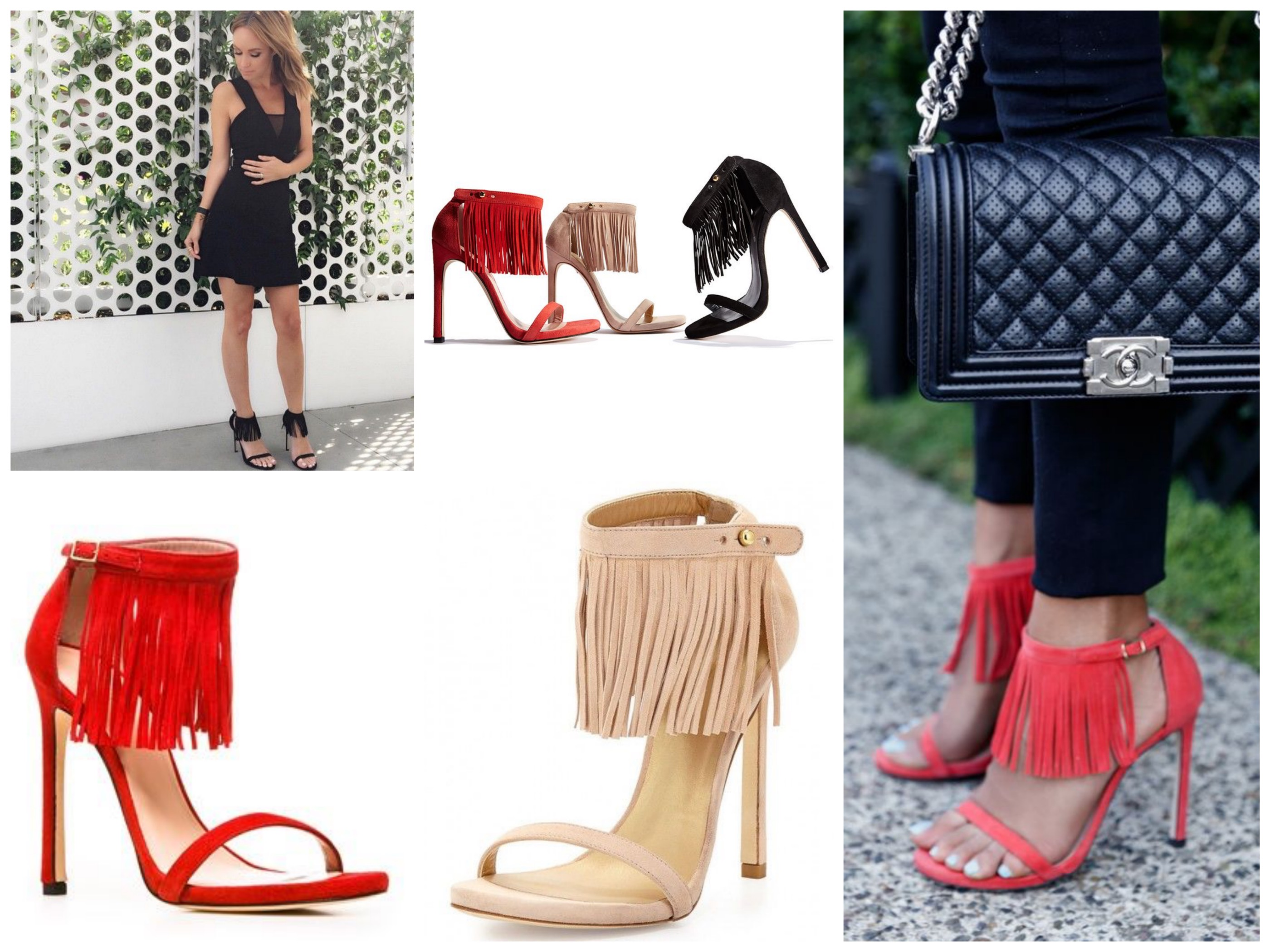 Stuart Weitzman Lovefringe Sandals
