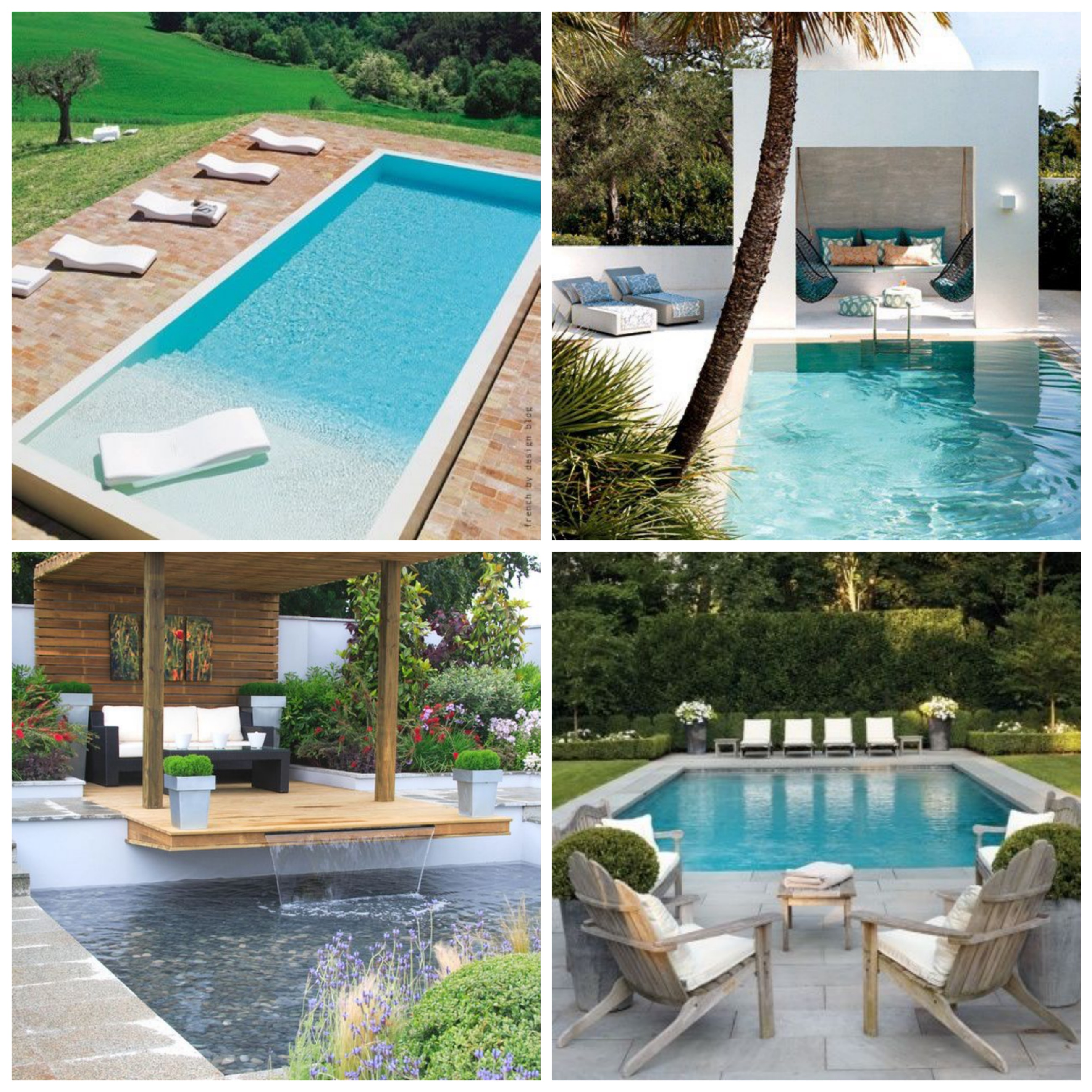 White & Wood Poolsides