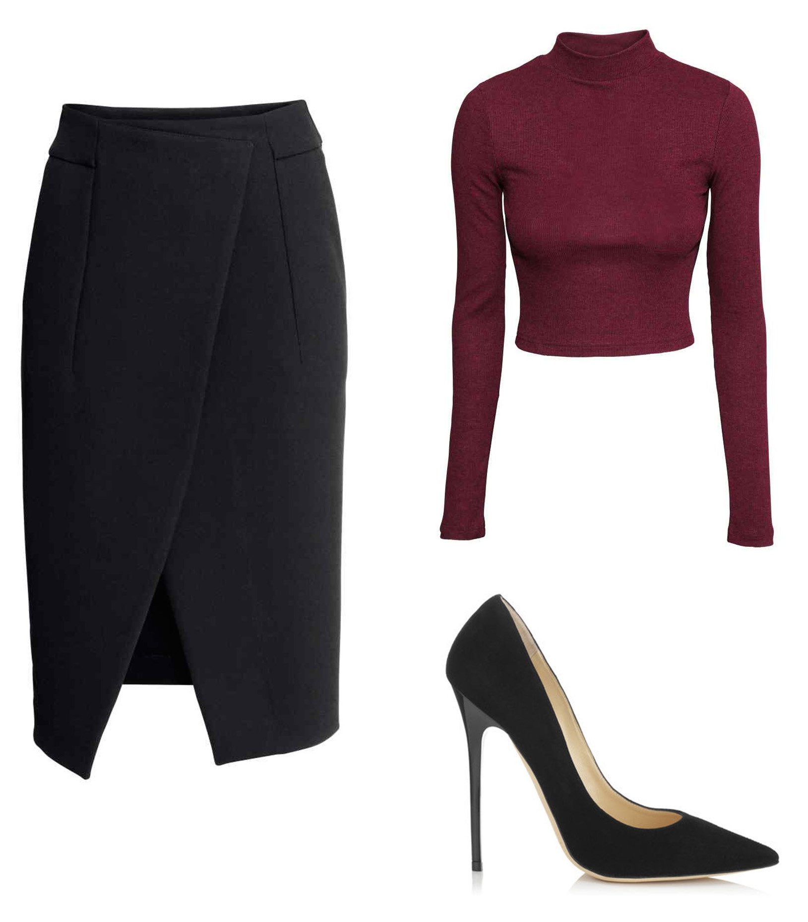 How to steal Kendall's style - Crop top & pencil skirt