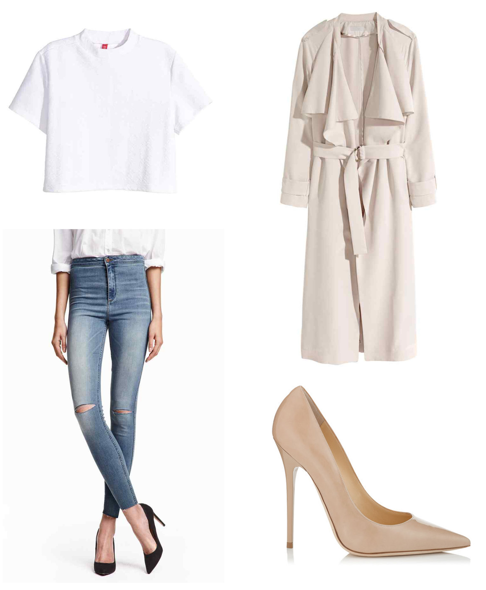 How to steal Kendall's style - White & nude outfit