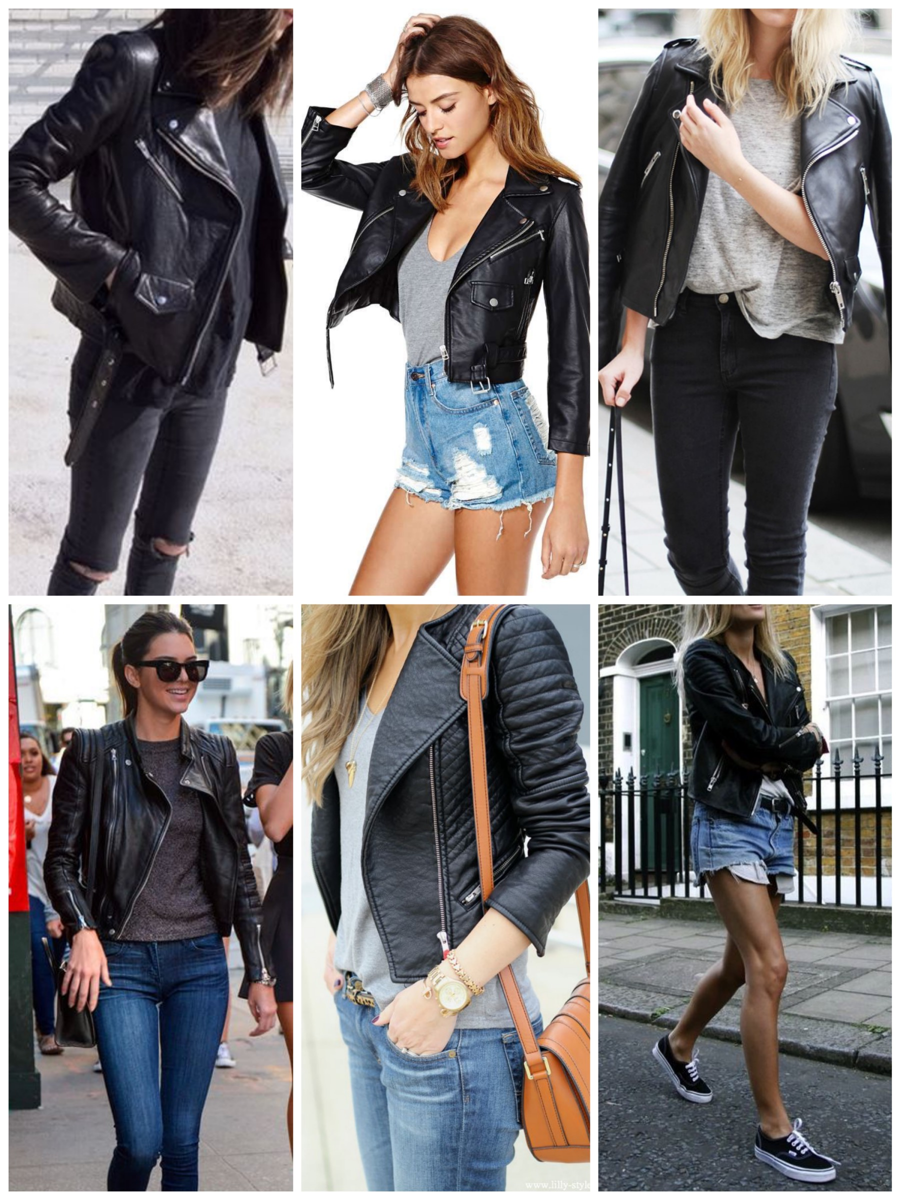 Pair your moto jacket with jeans for a casual look