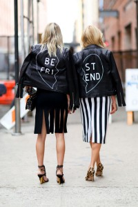 Caroline Vreeland & Shea Marie during the NY Fashion Week