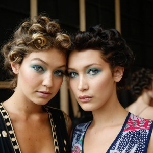 Gigi & Bella Hadid before the DVF S/S16 Show