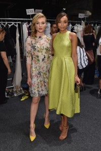 Skyler Samuels & Ashley Madekwe at the Monique Lhuillier S/S16 Show