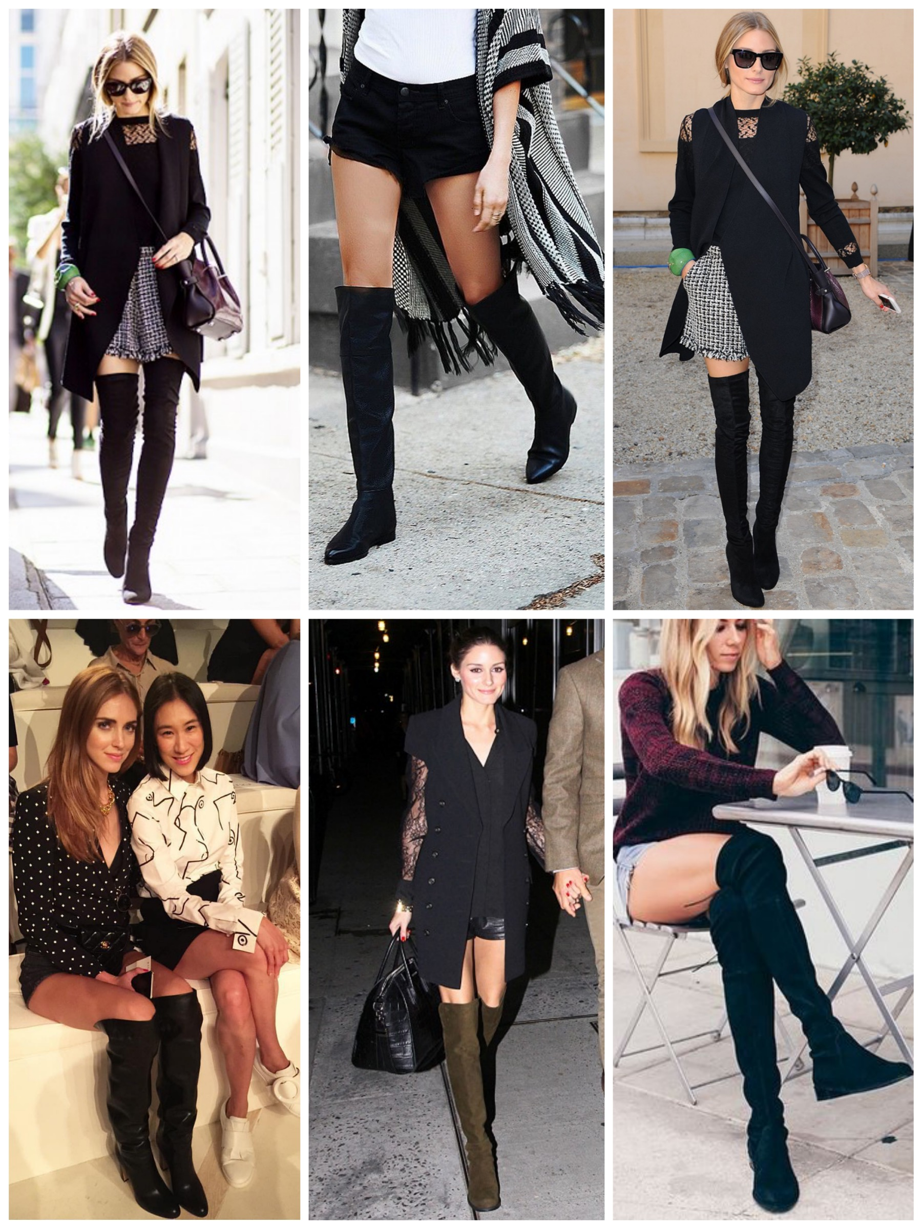 Wear Over the Knee Boots with Shorts