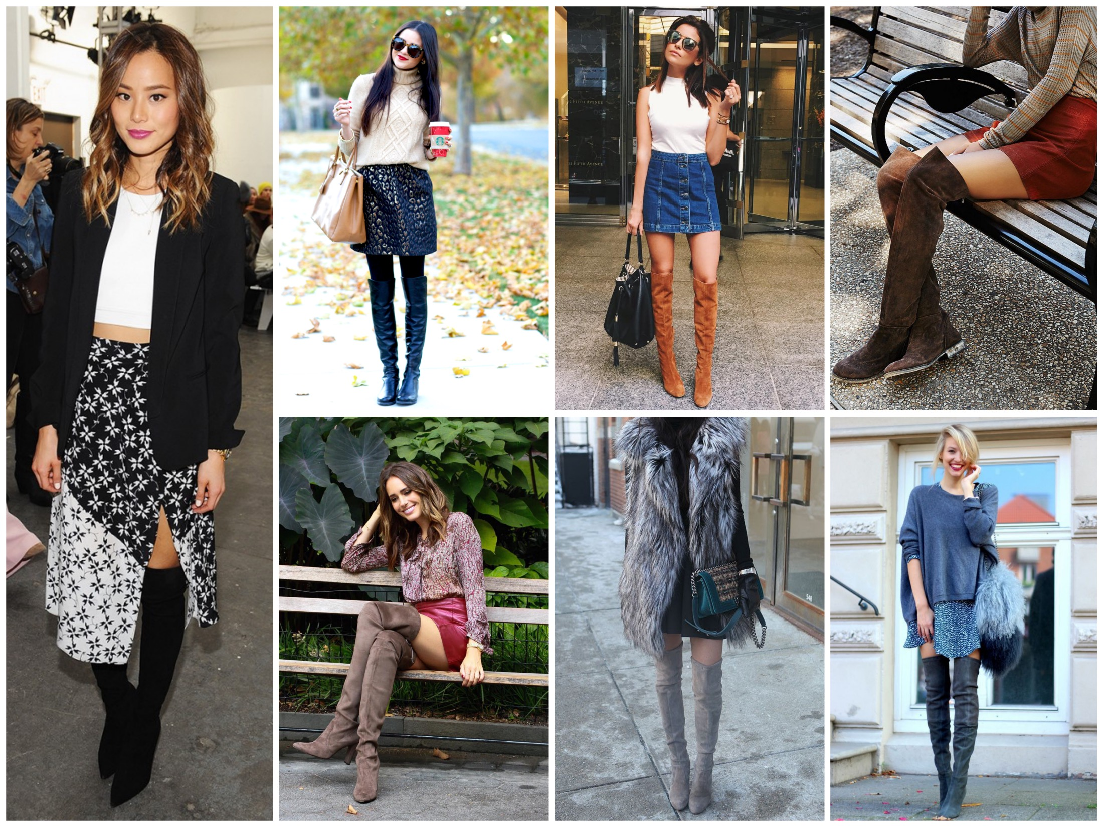 Wear over the knee boots with a skirt