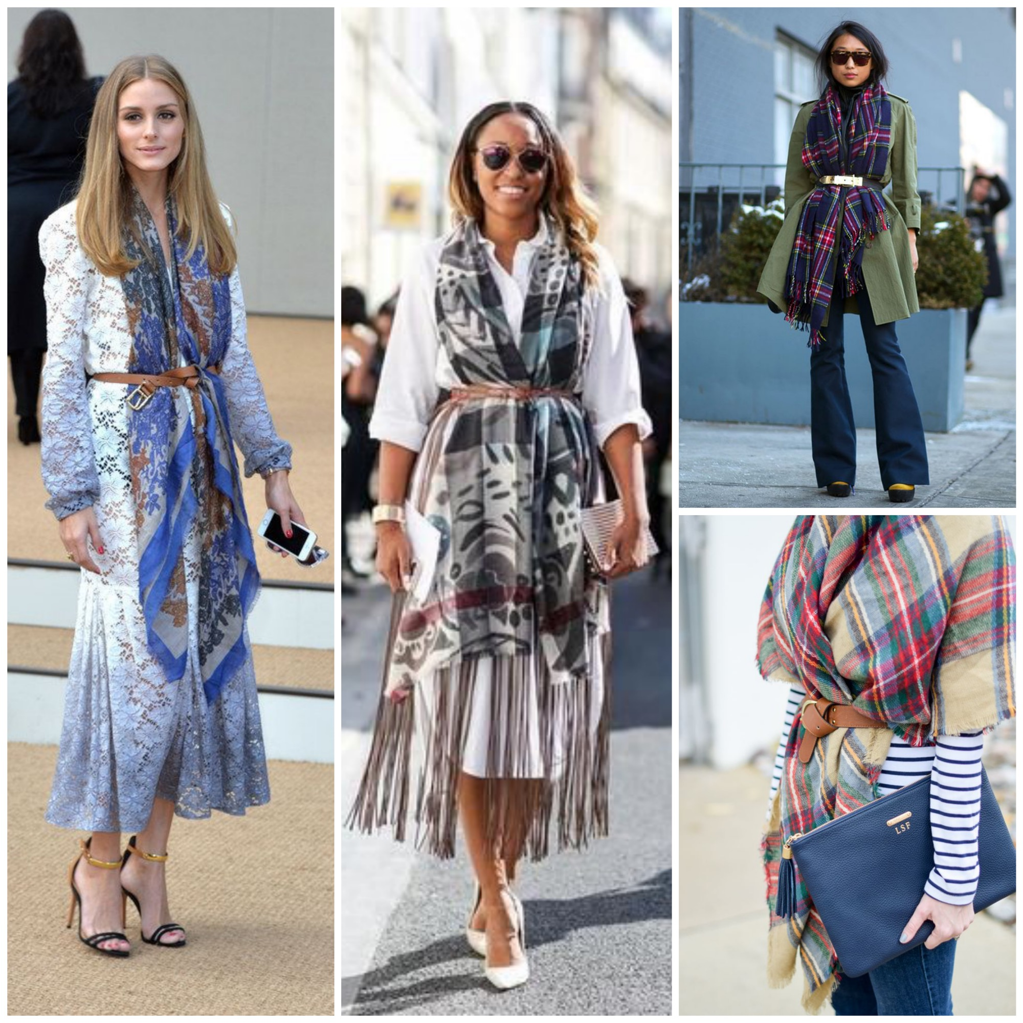 Belt Over Scarf - Fall Big Trend
