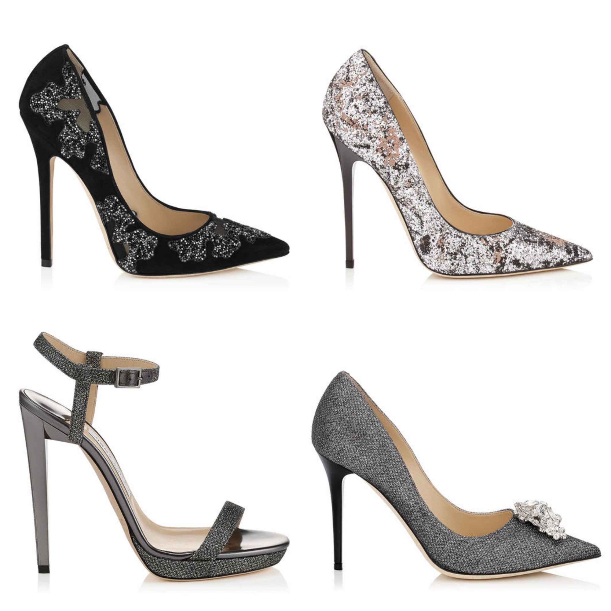 Glitter stilettos for the Holiday Season - Jimmy Choo