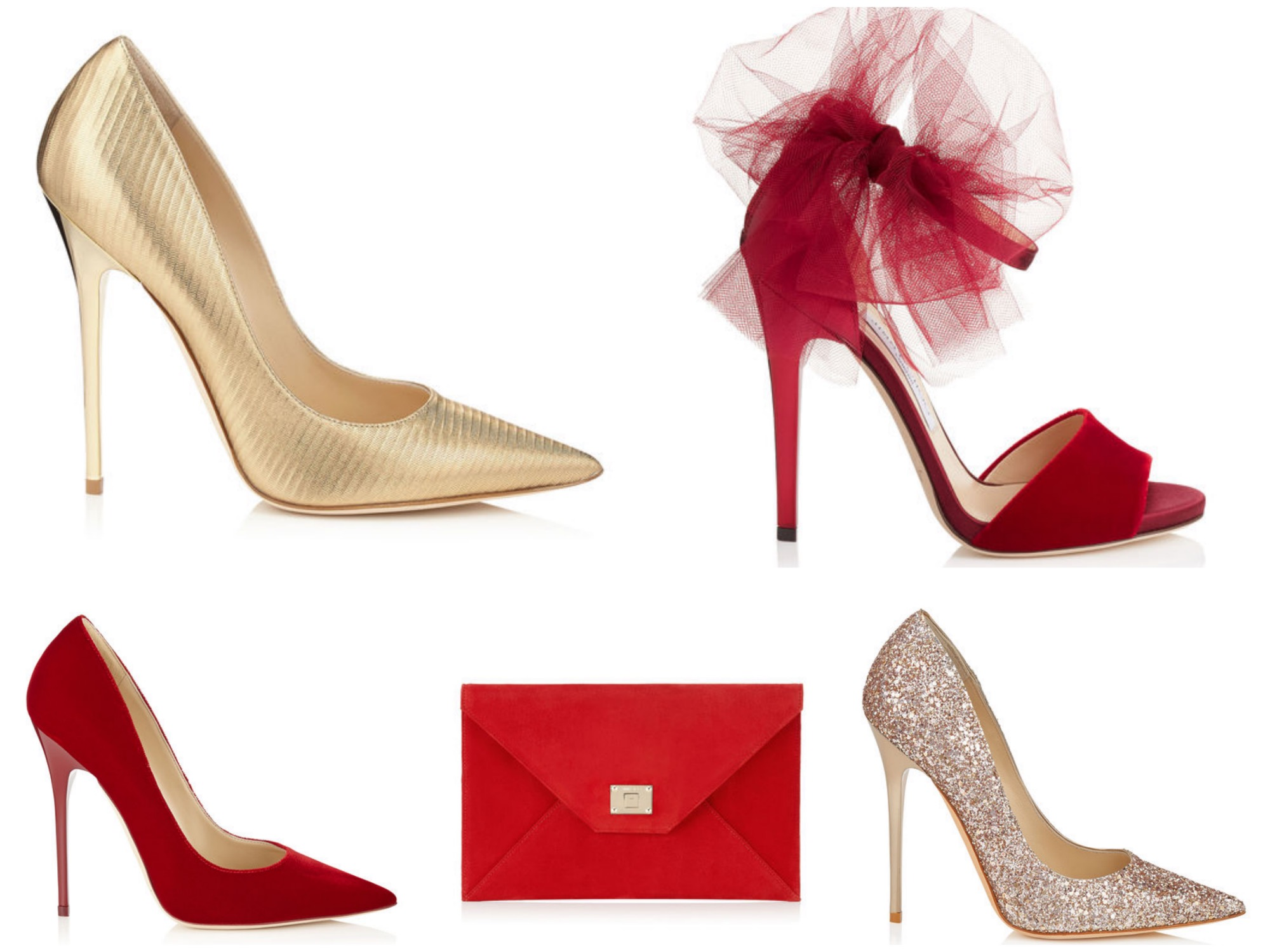 Gold & Red Accessories for the Holiday Season - Jimmy Choo