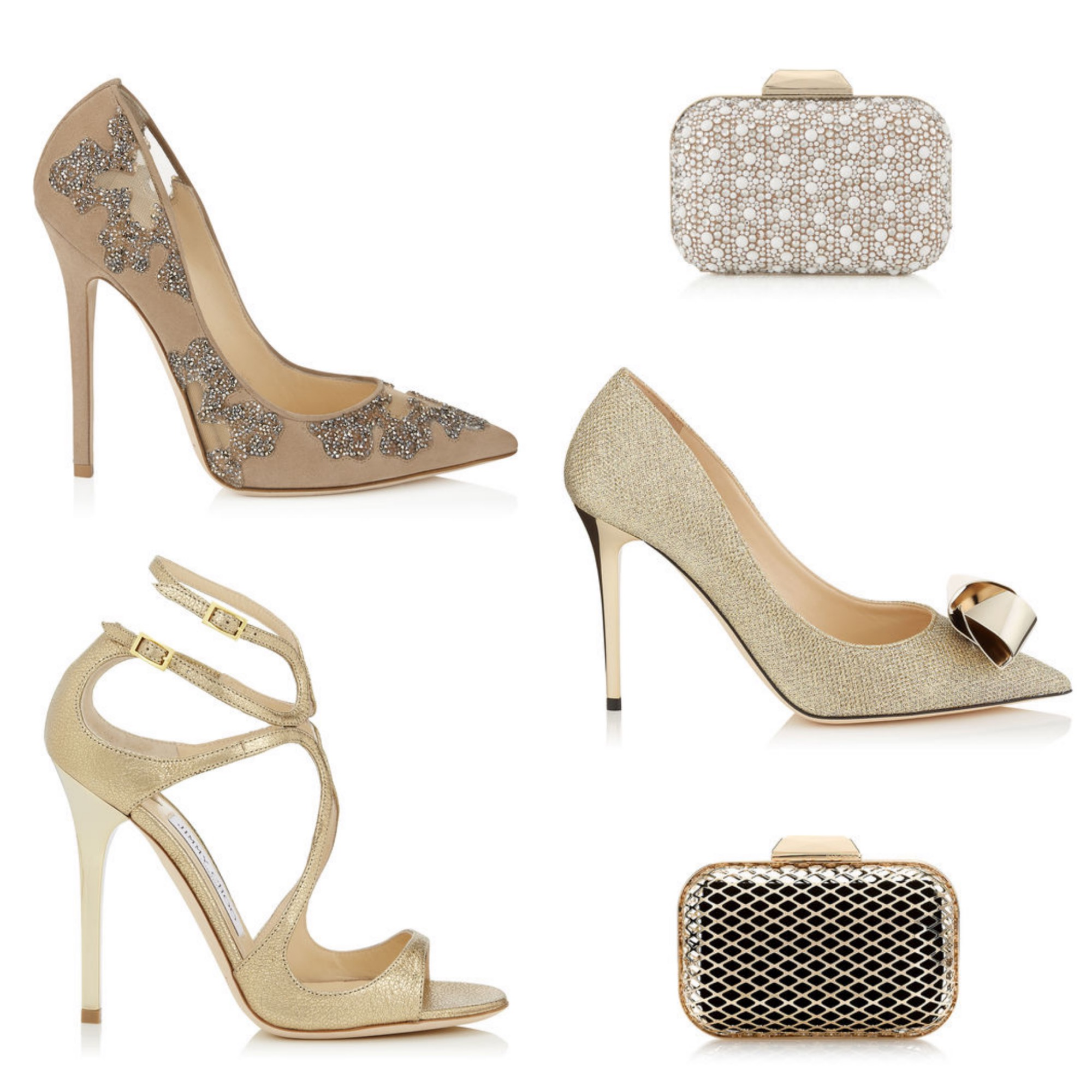 Golden shoes & Clutches for the Holiday Season - Jimmy Choo