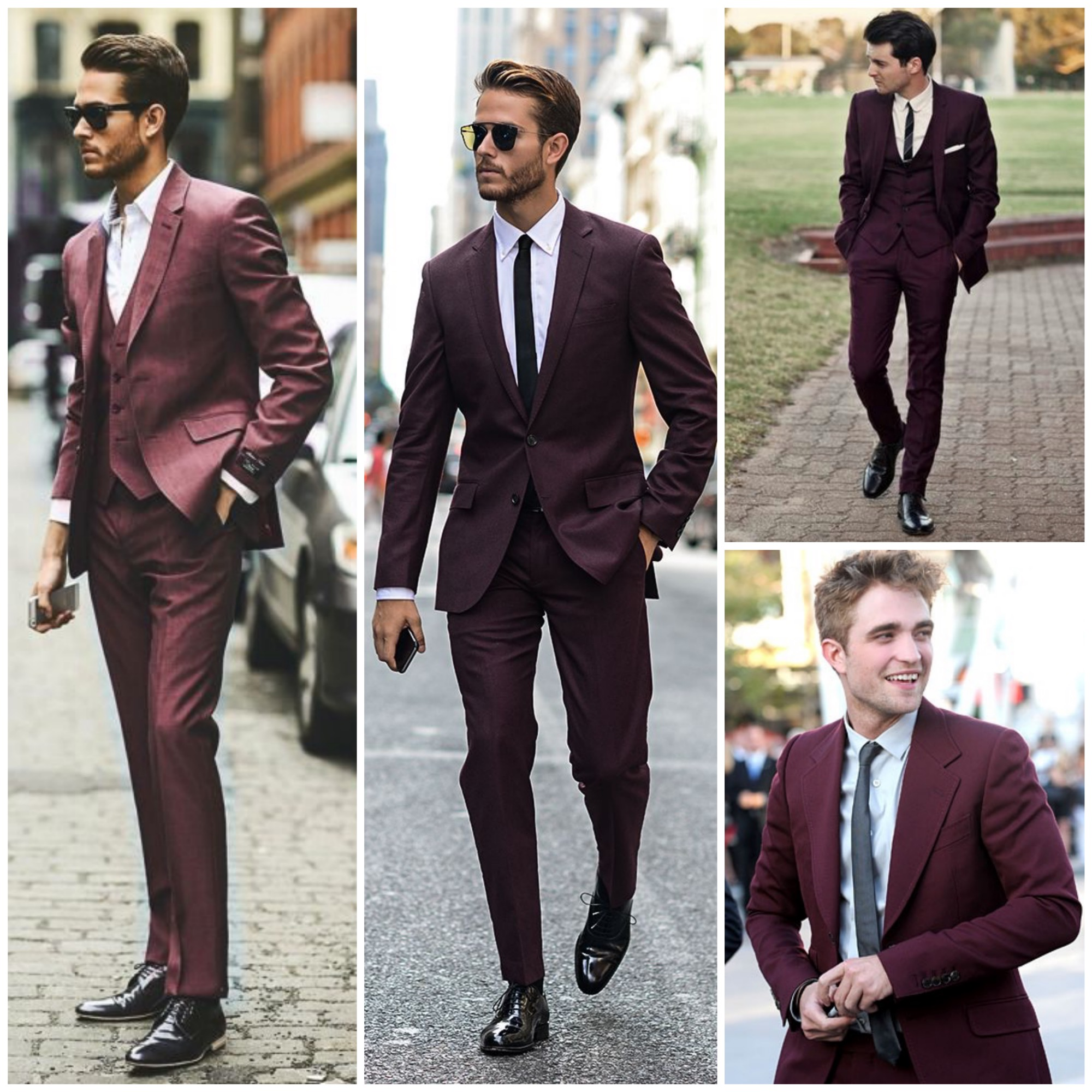 Marsala suit for men