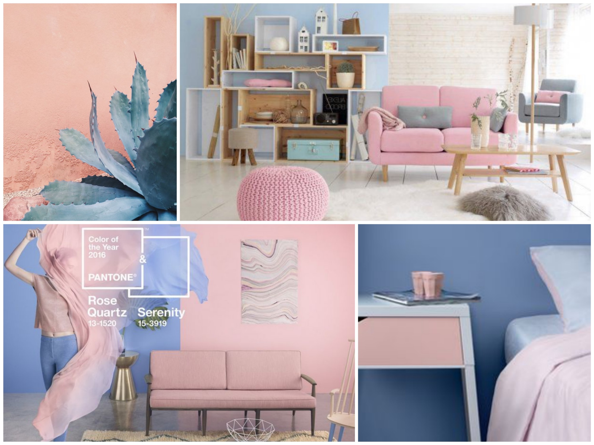 Rose Quartz & Serenity - Pantone Colors of the Year 2016