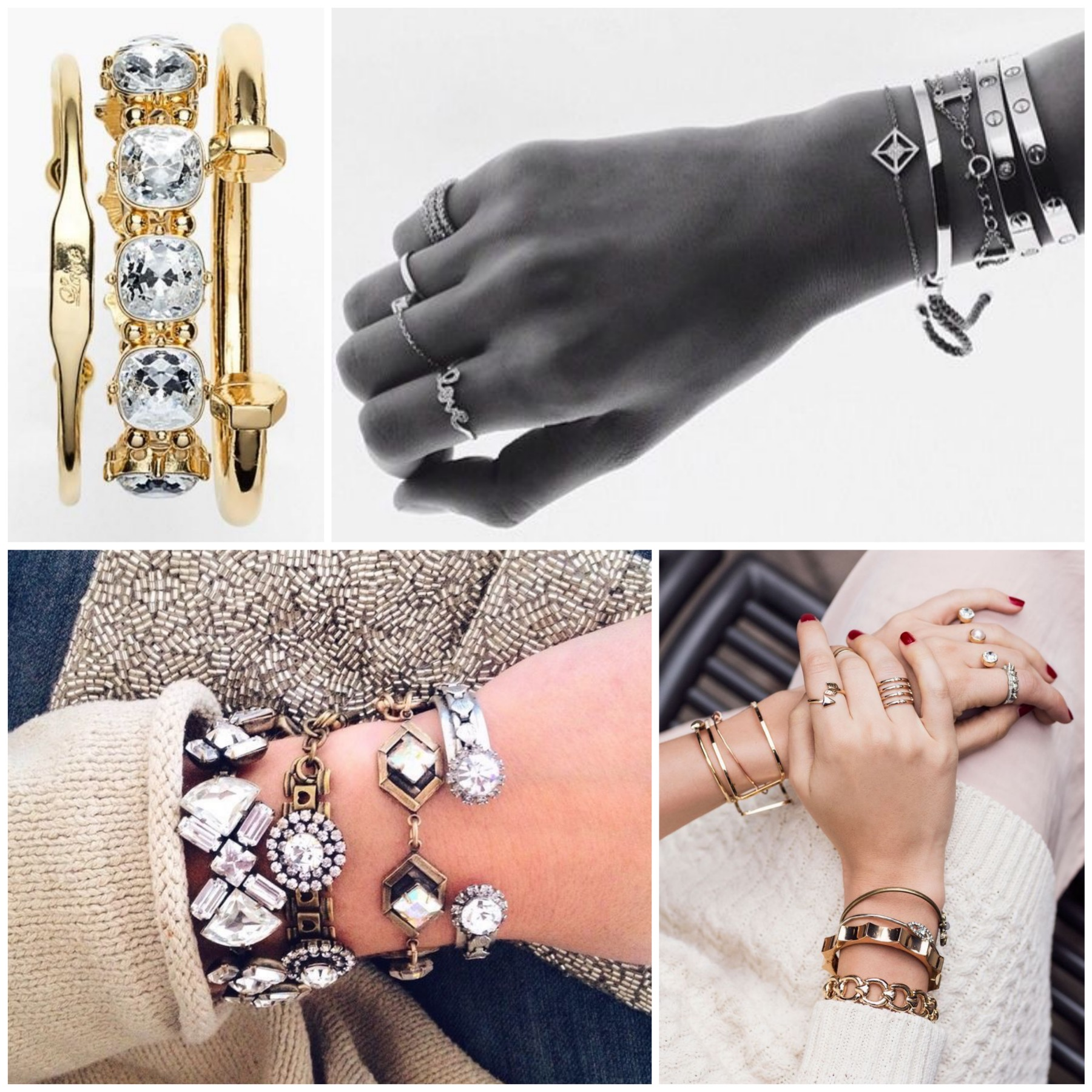Statement bracelets stack