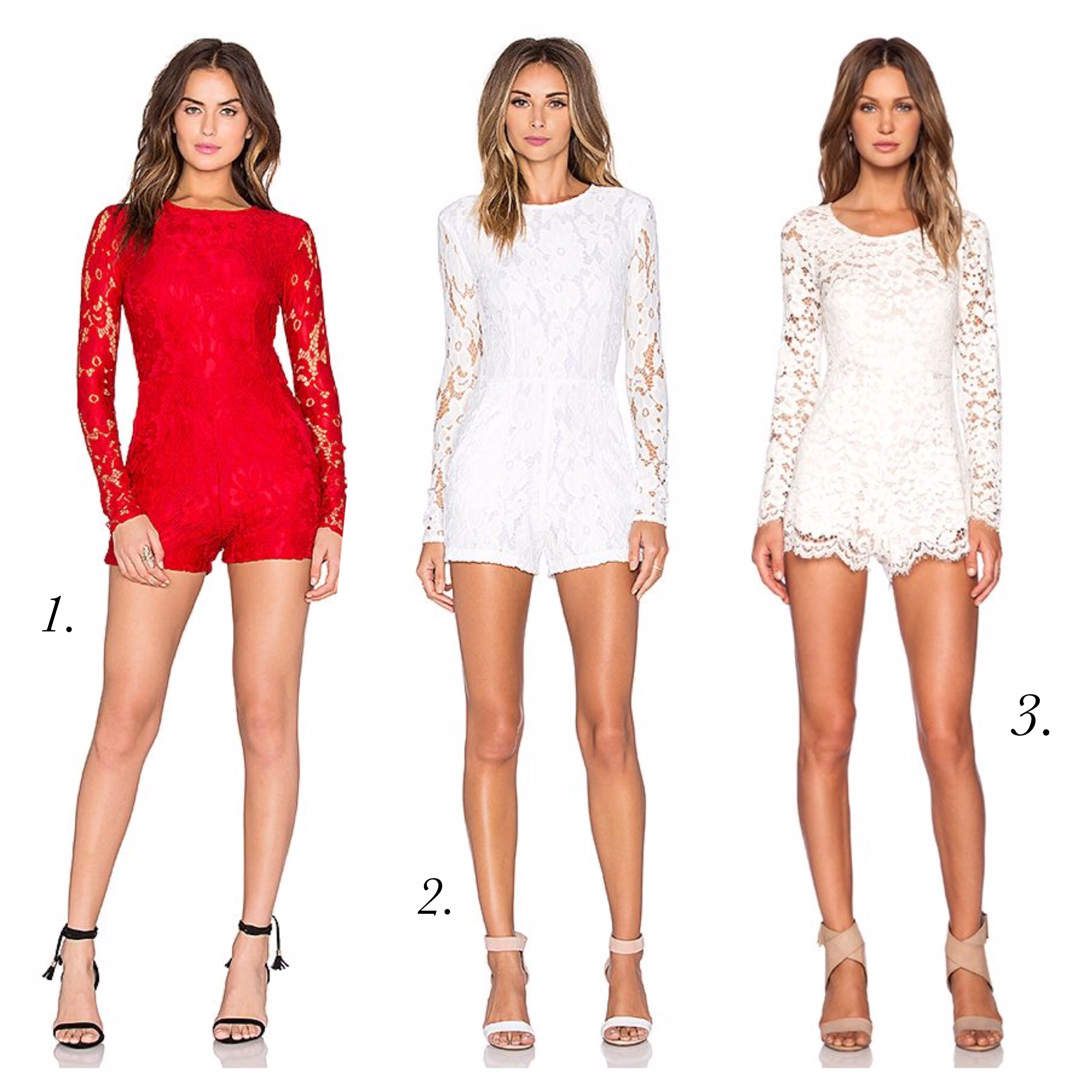 White Lace Rompers - Revolve