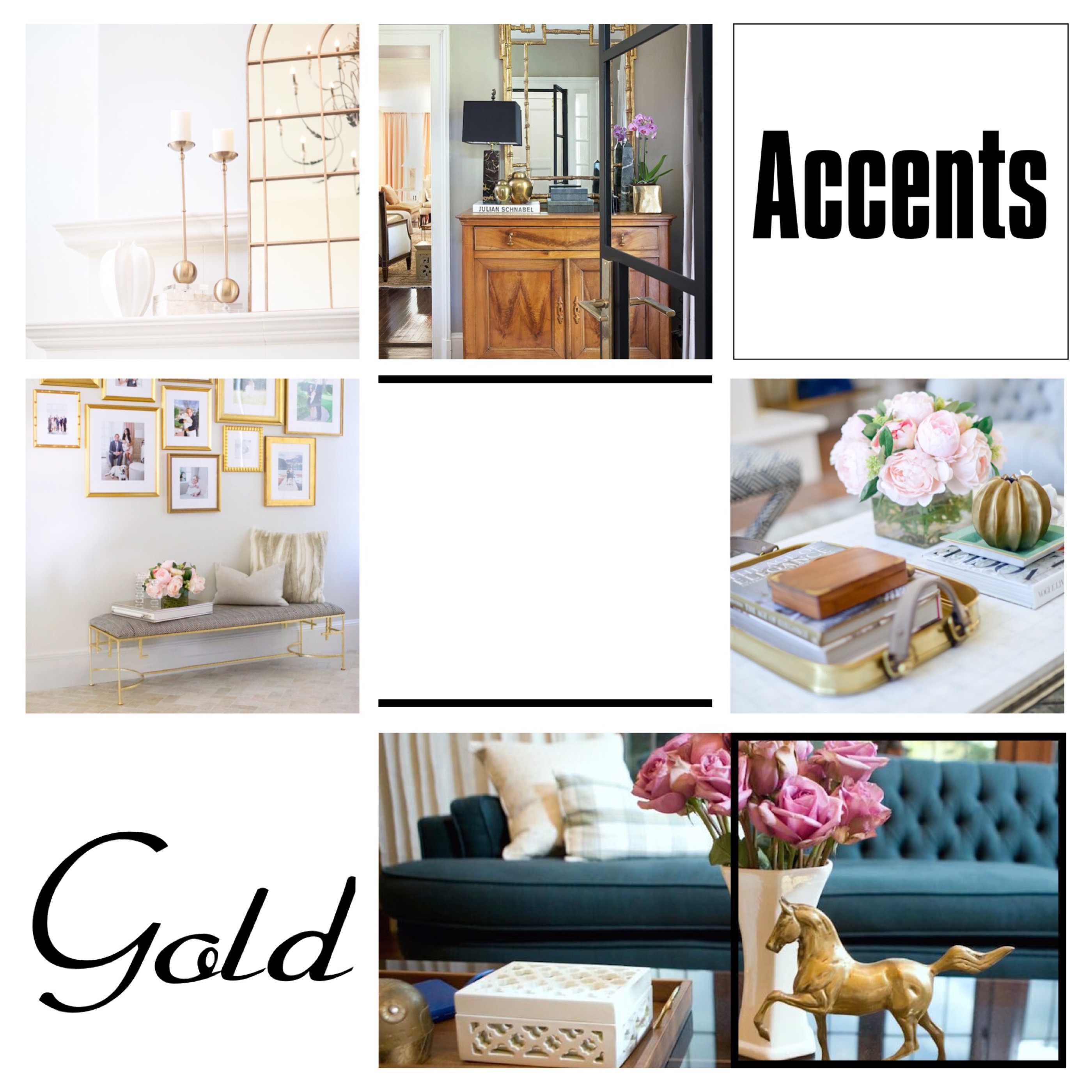 Deco inspo - Gold accents