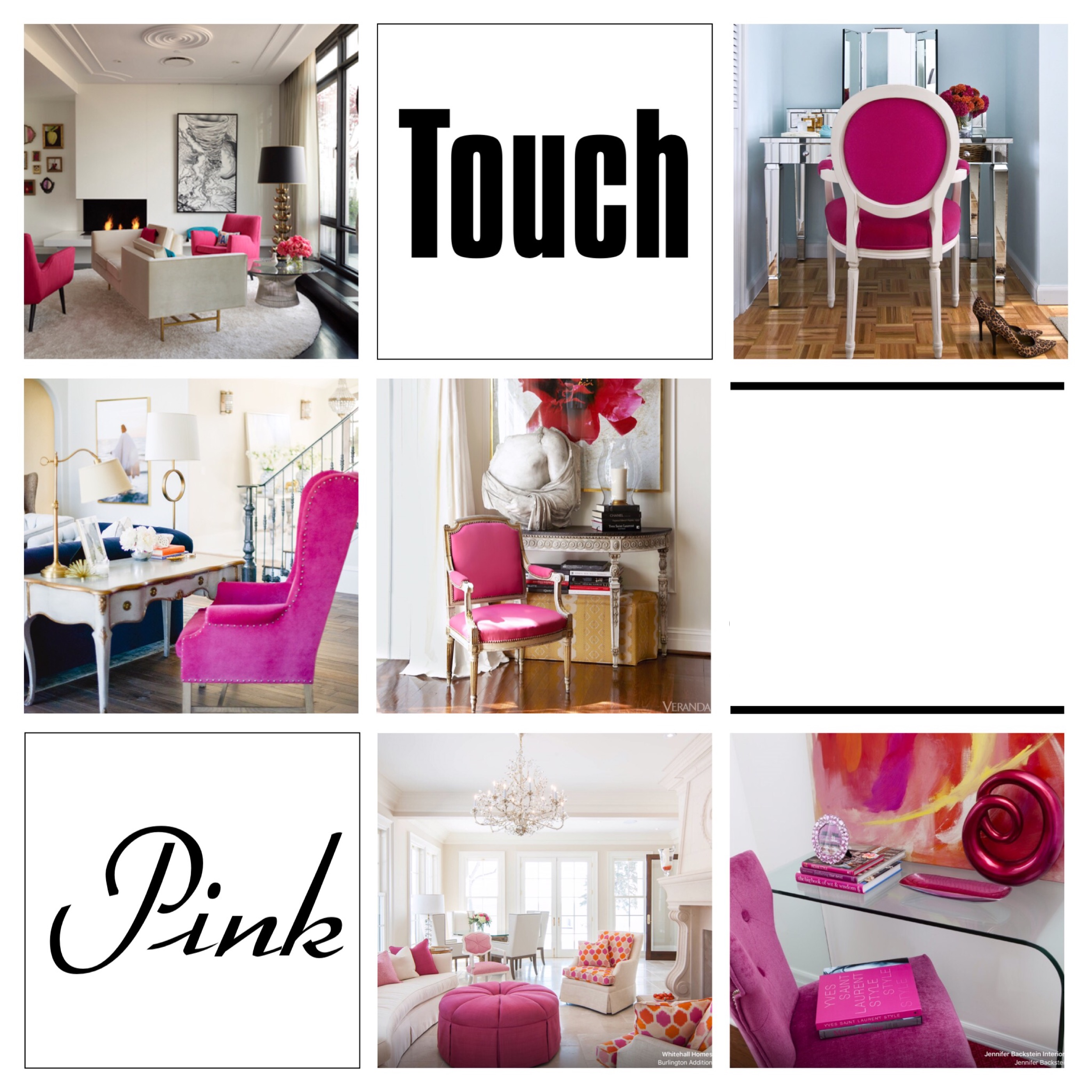 Add a subbtle touch of pink for a glamorous home