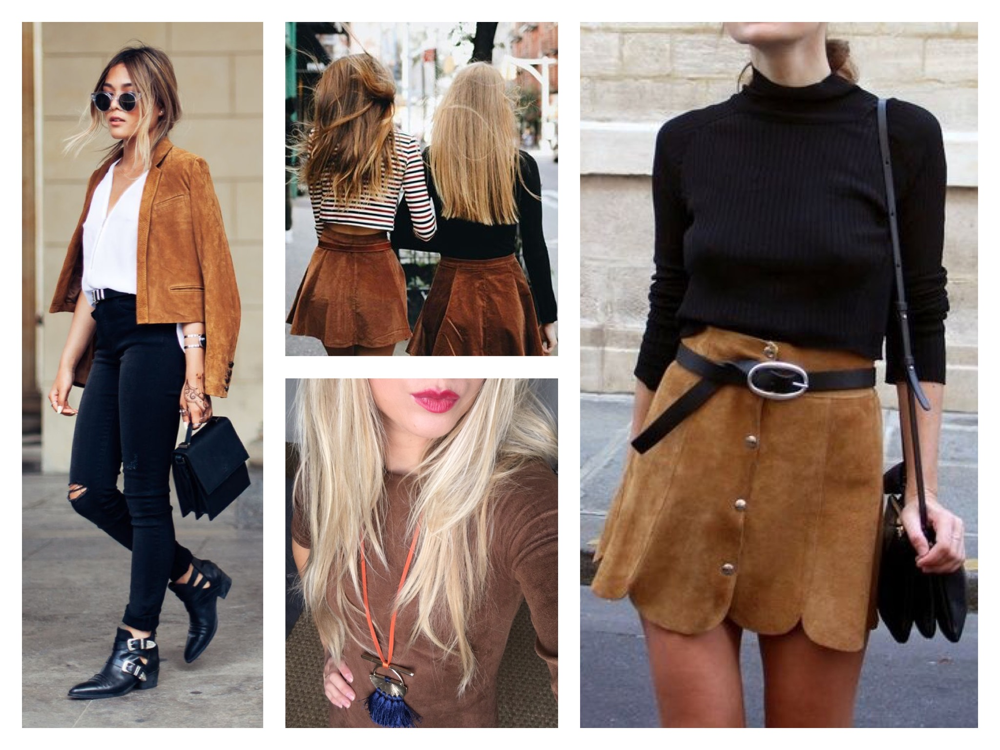 Suede skirts and dress for fall