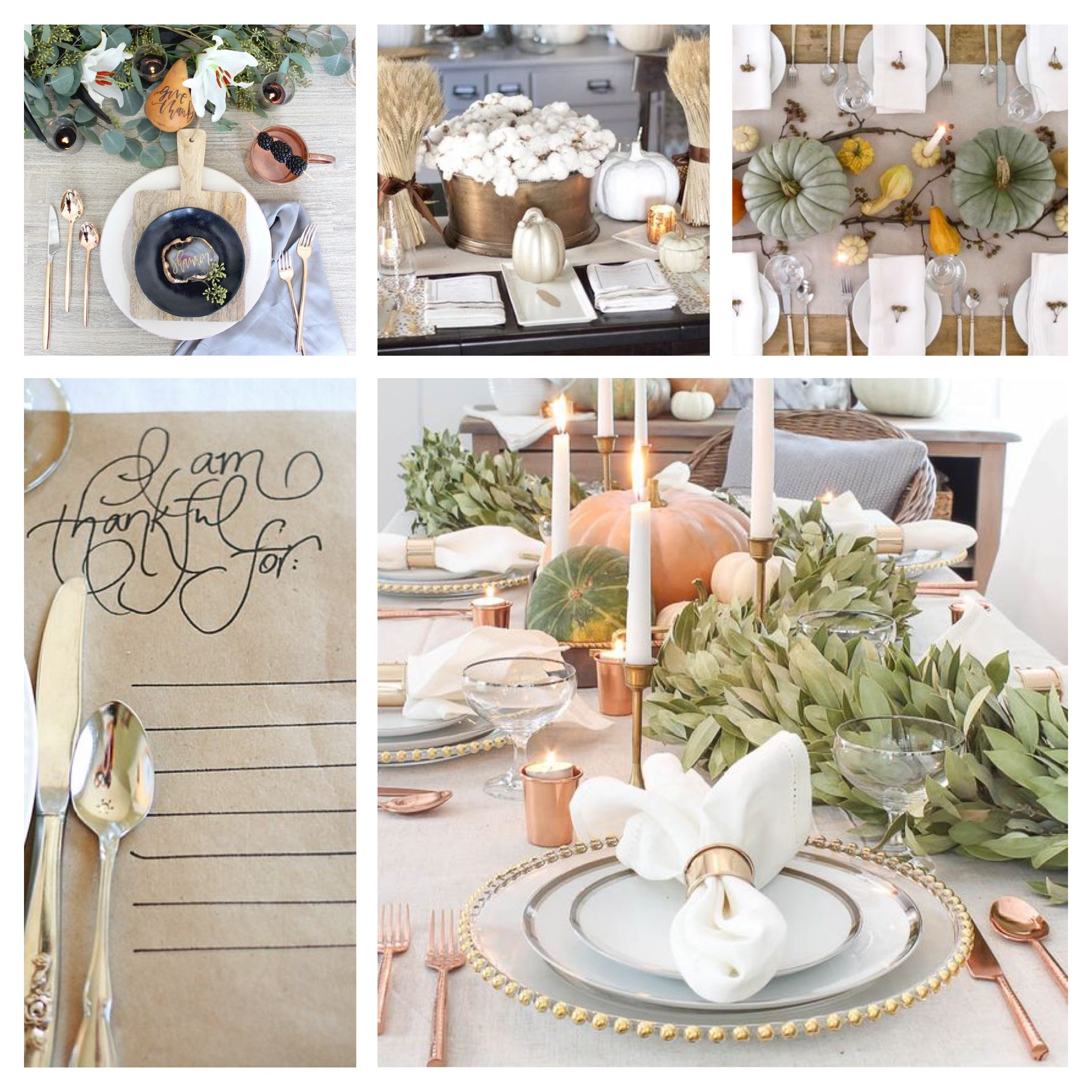 Elegant Thanksgiving Tables