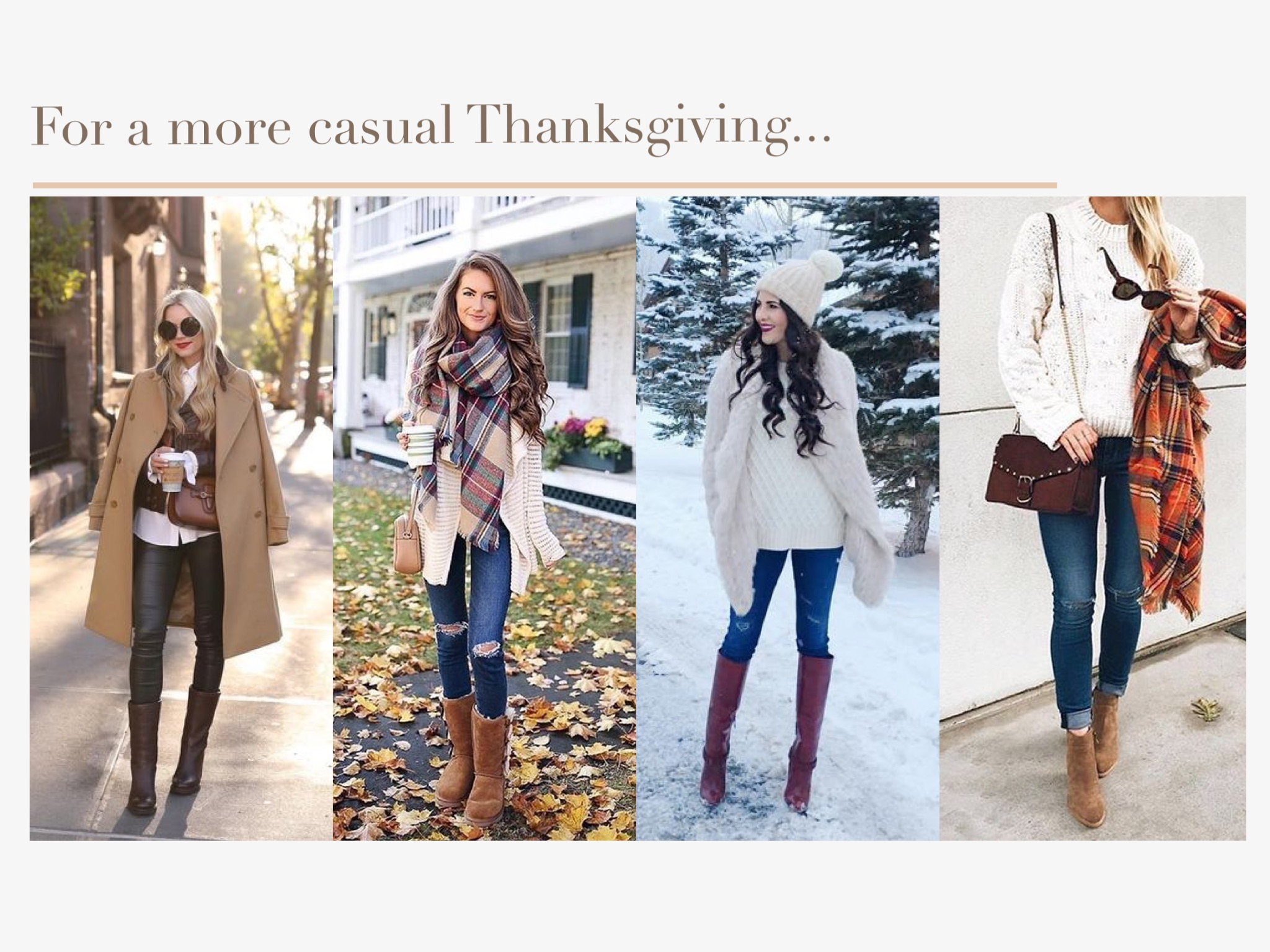 For a more casual Thanksgiving