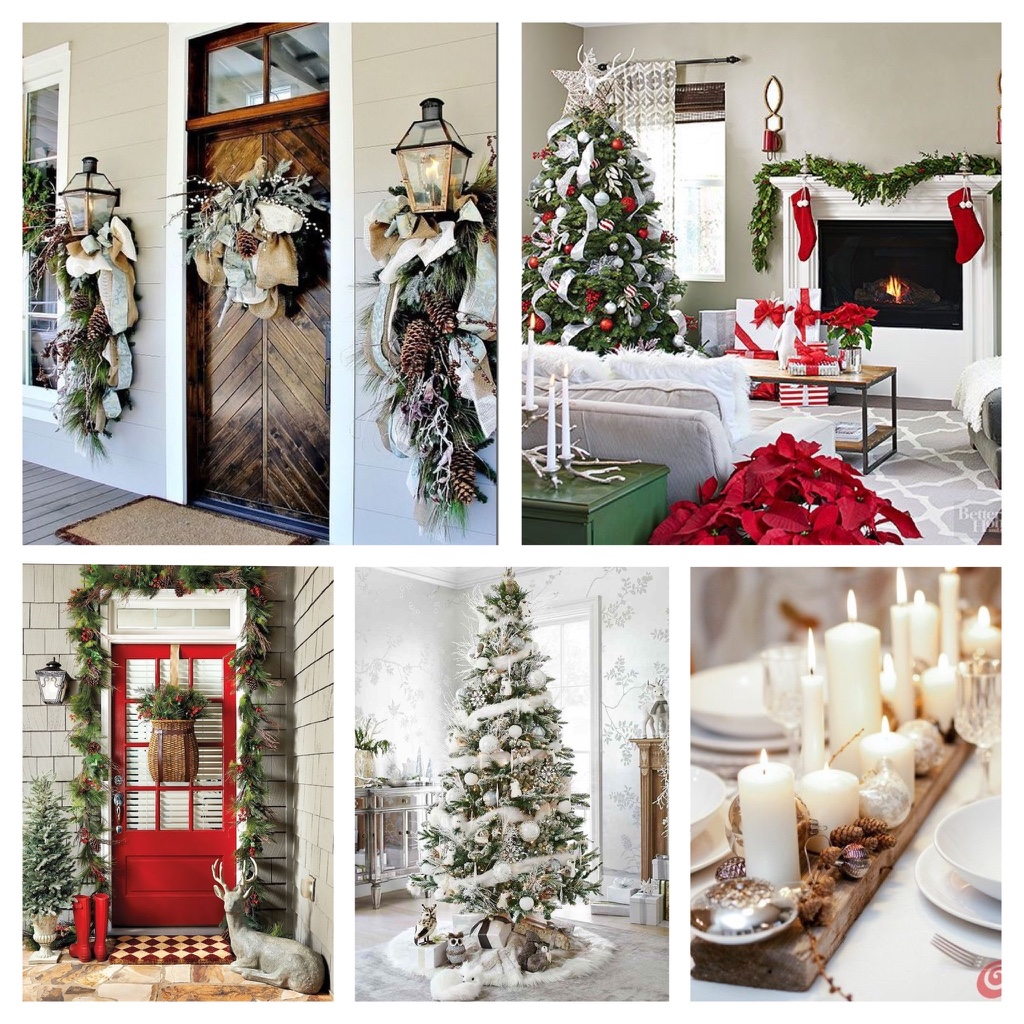 Home front door inspirations for Christmas