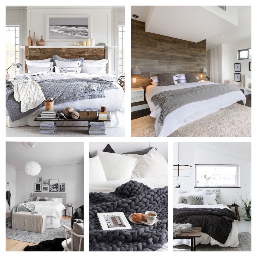 Grey cosy bedrooms