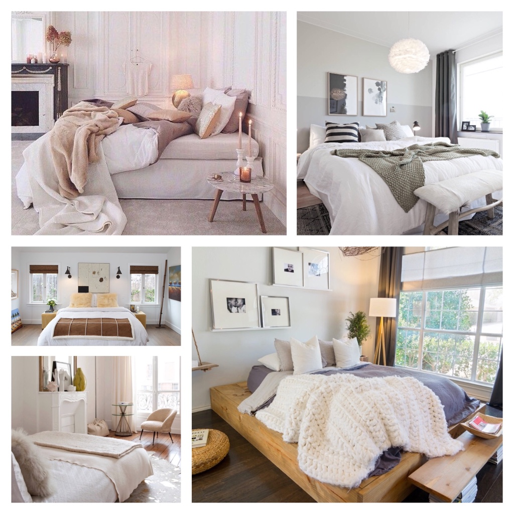 Neutral cosy bedrooms