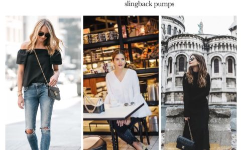 How to wear two tone slingback pumps