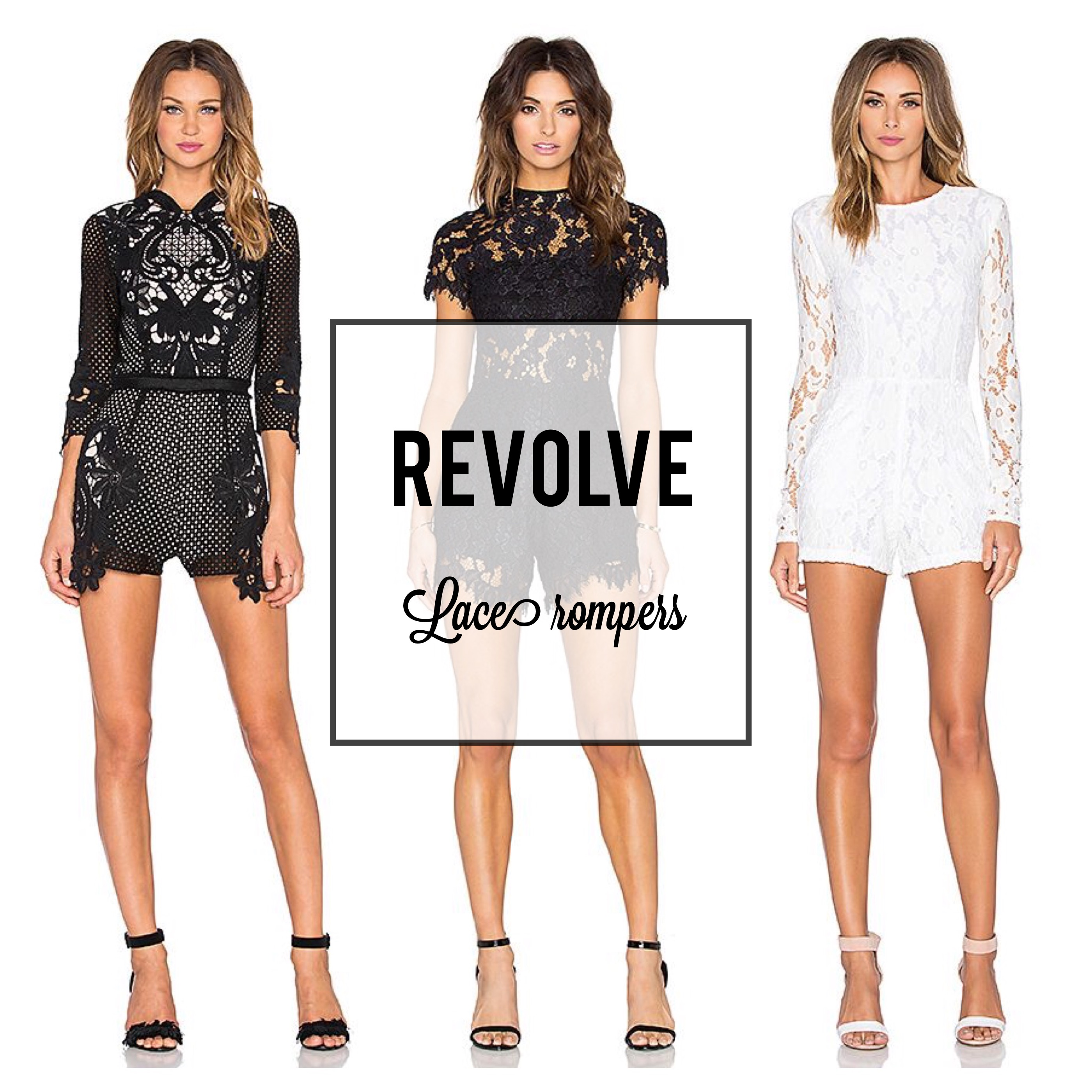 Revolve Lace Rompers